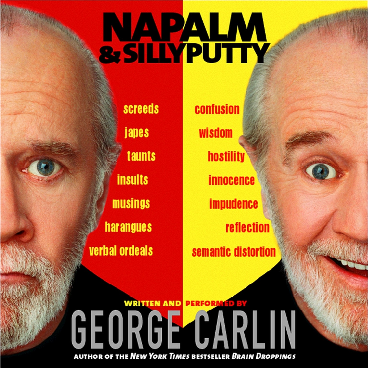 Printable Napalm and Silly Putty Audiobook Cover Art