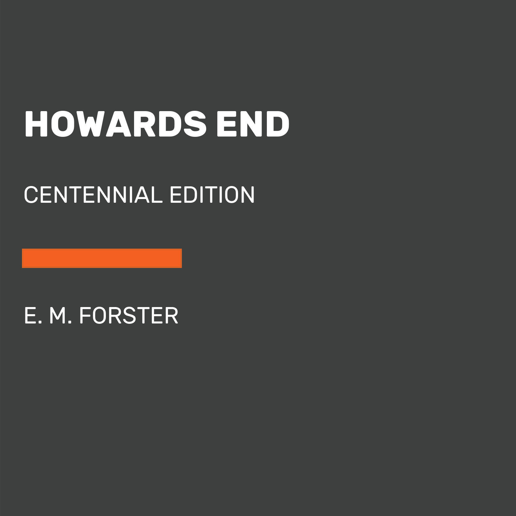 Printable Howards End Audiobook Cover Art
