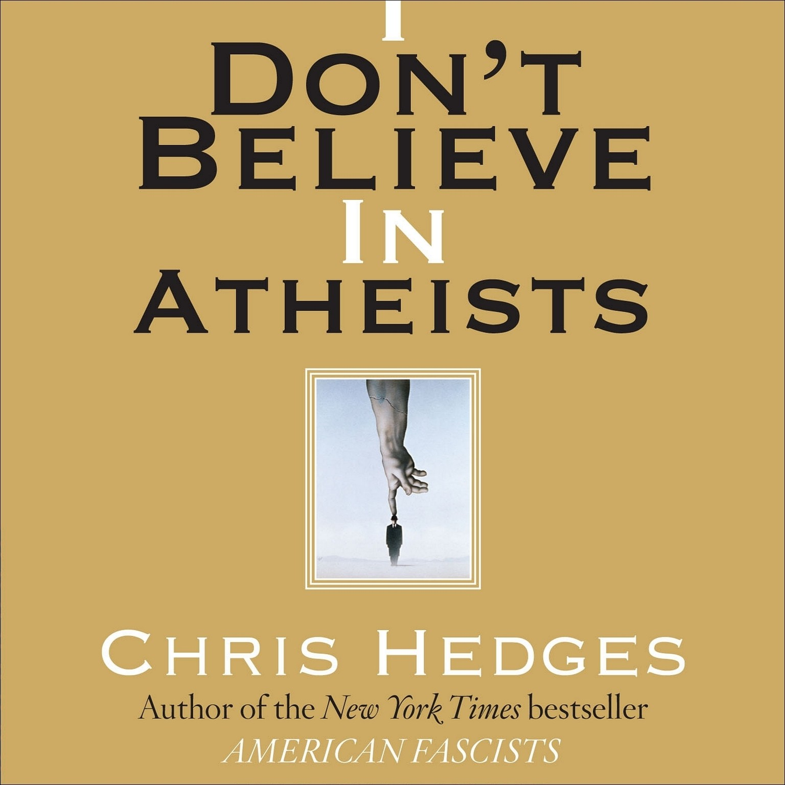 Printable I Don't Believe in Atheists Audiobook Cover Art