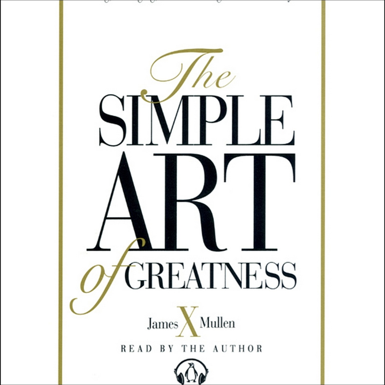 Printable Simple Art of Greatness Audiobook Cover Art