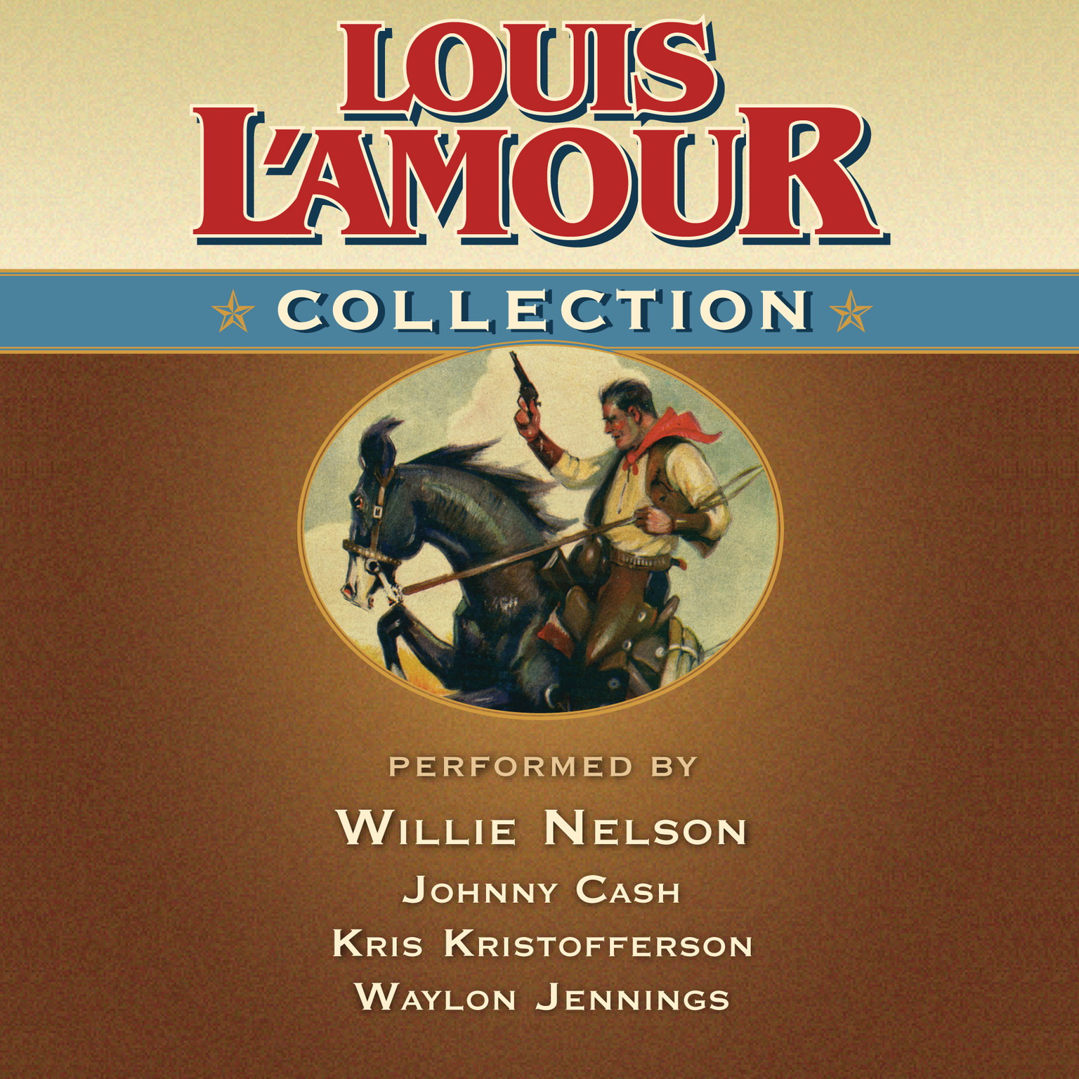 Printable Louis L'Amour Collection Audiobook Cover Art