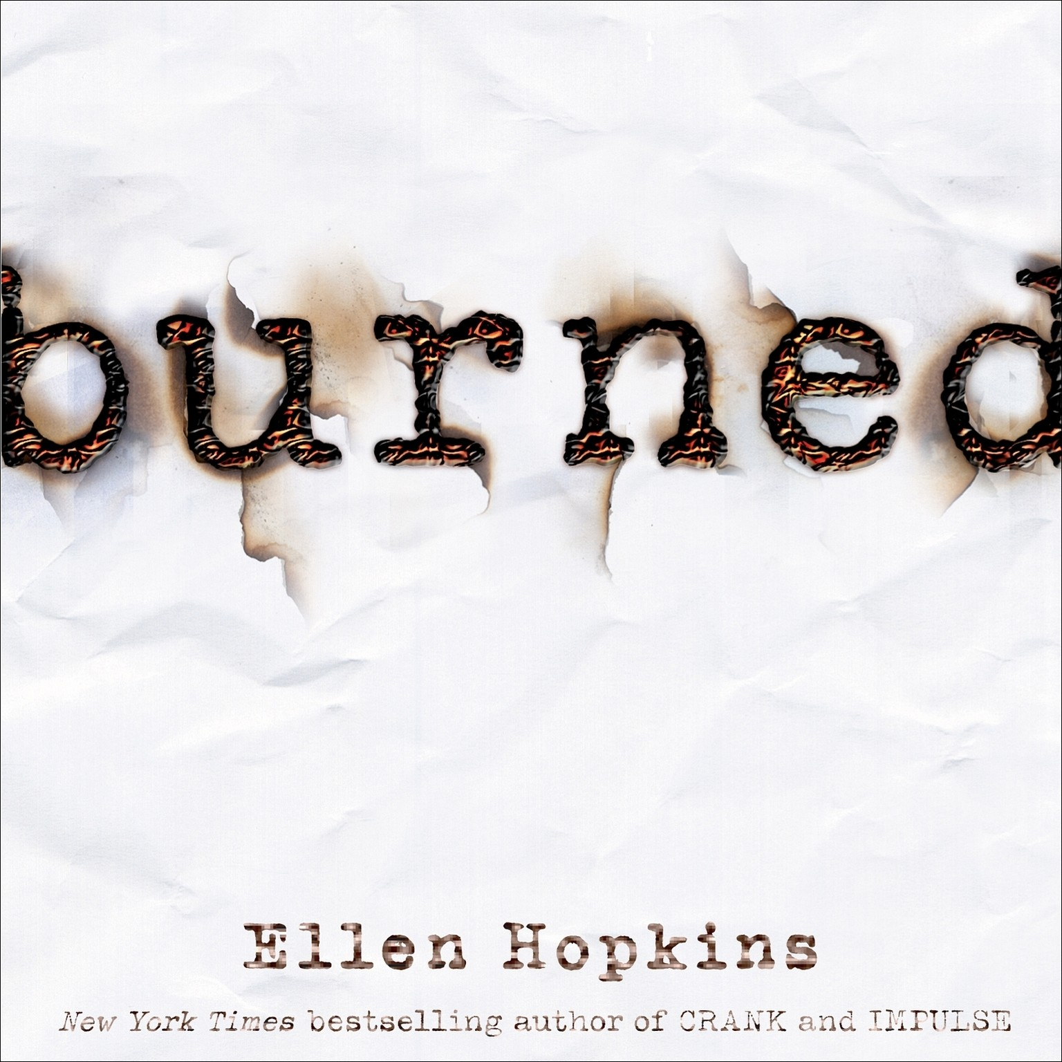 Printable Burned Audiobook Cover Art