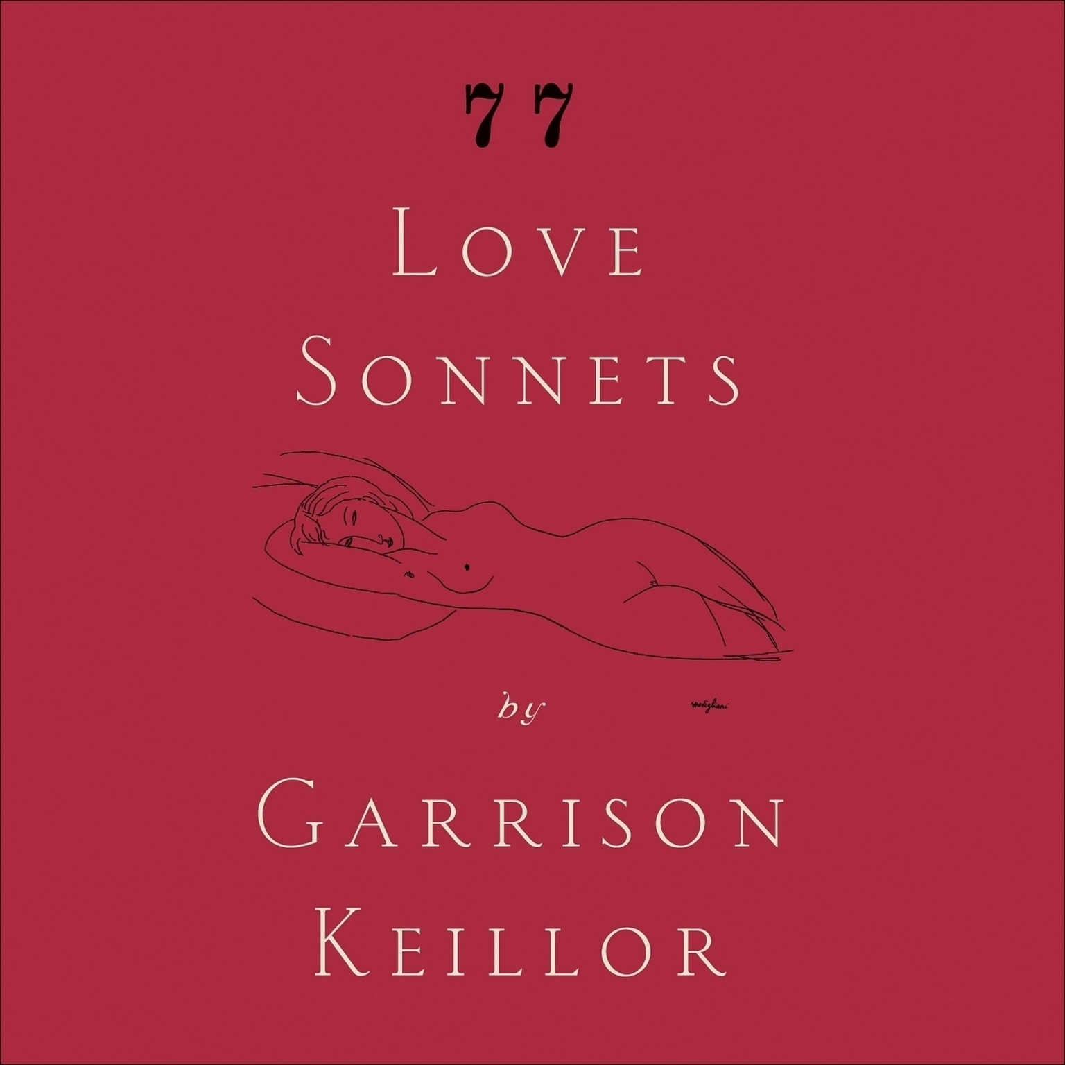 Printable 77 Love Sonnets Audiobook Cover Art
