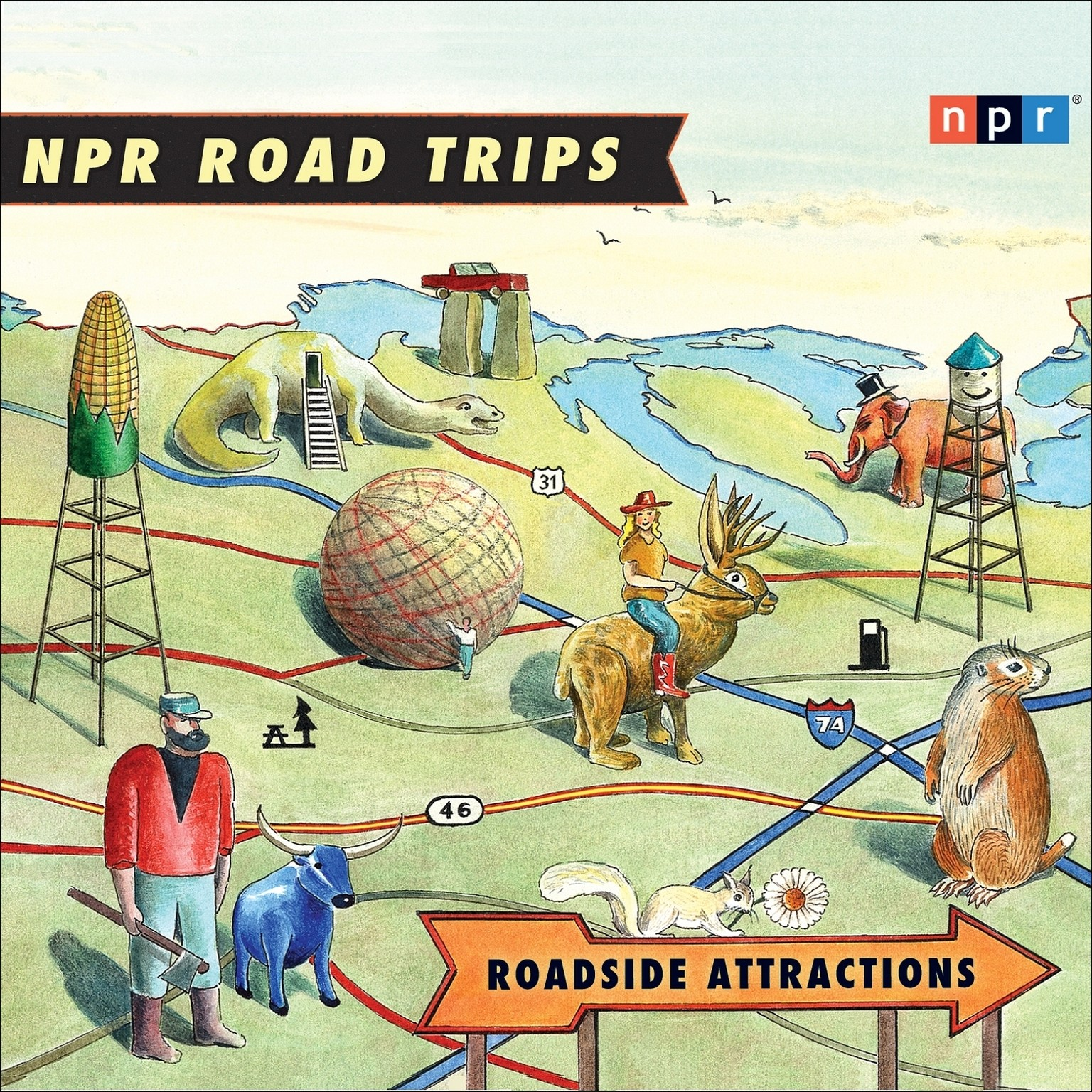 Printable Roadside Attractions Audiobook Cover Art