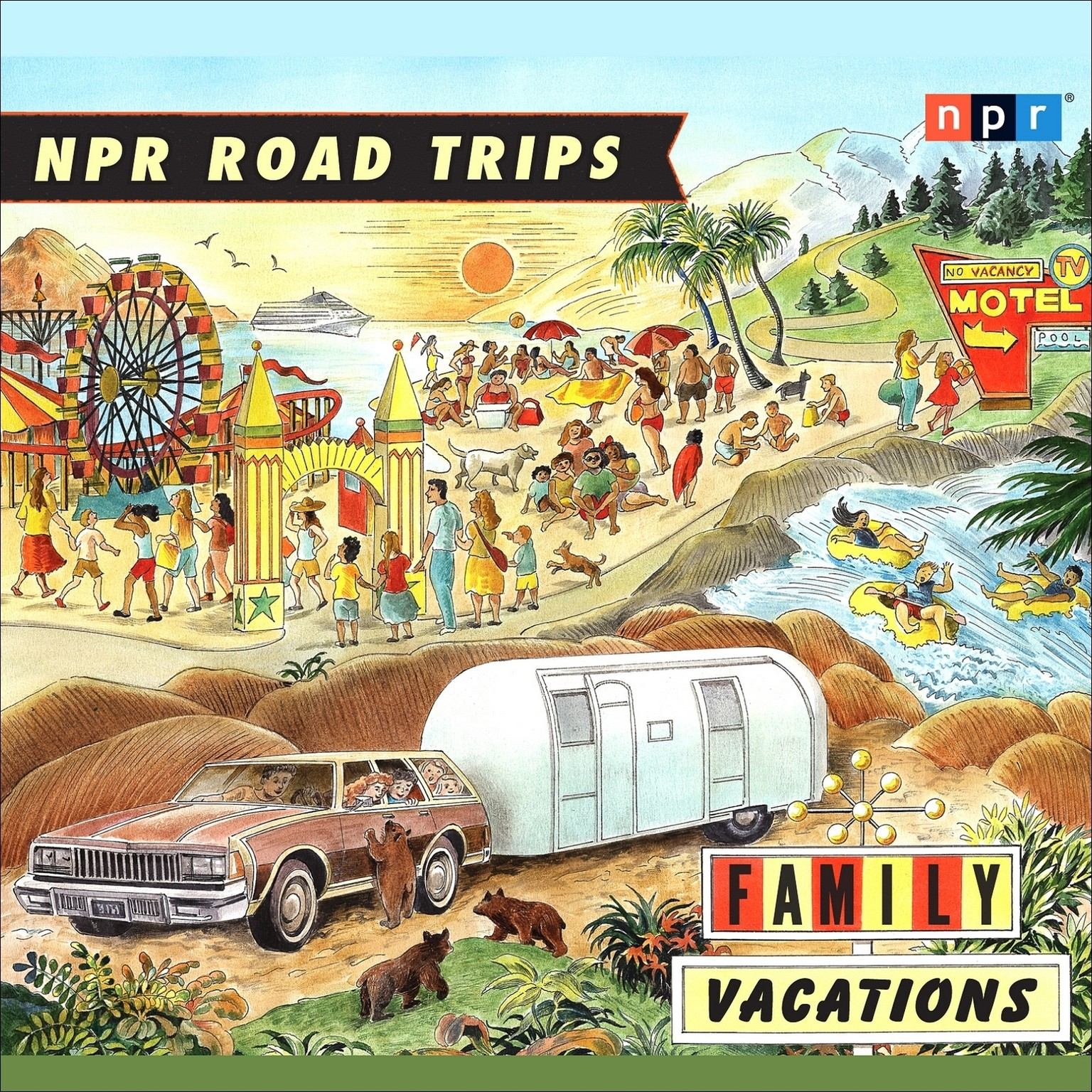 Printable Family Vacations Audiobook Cover Art