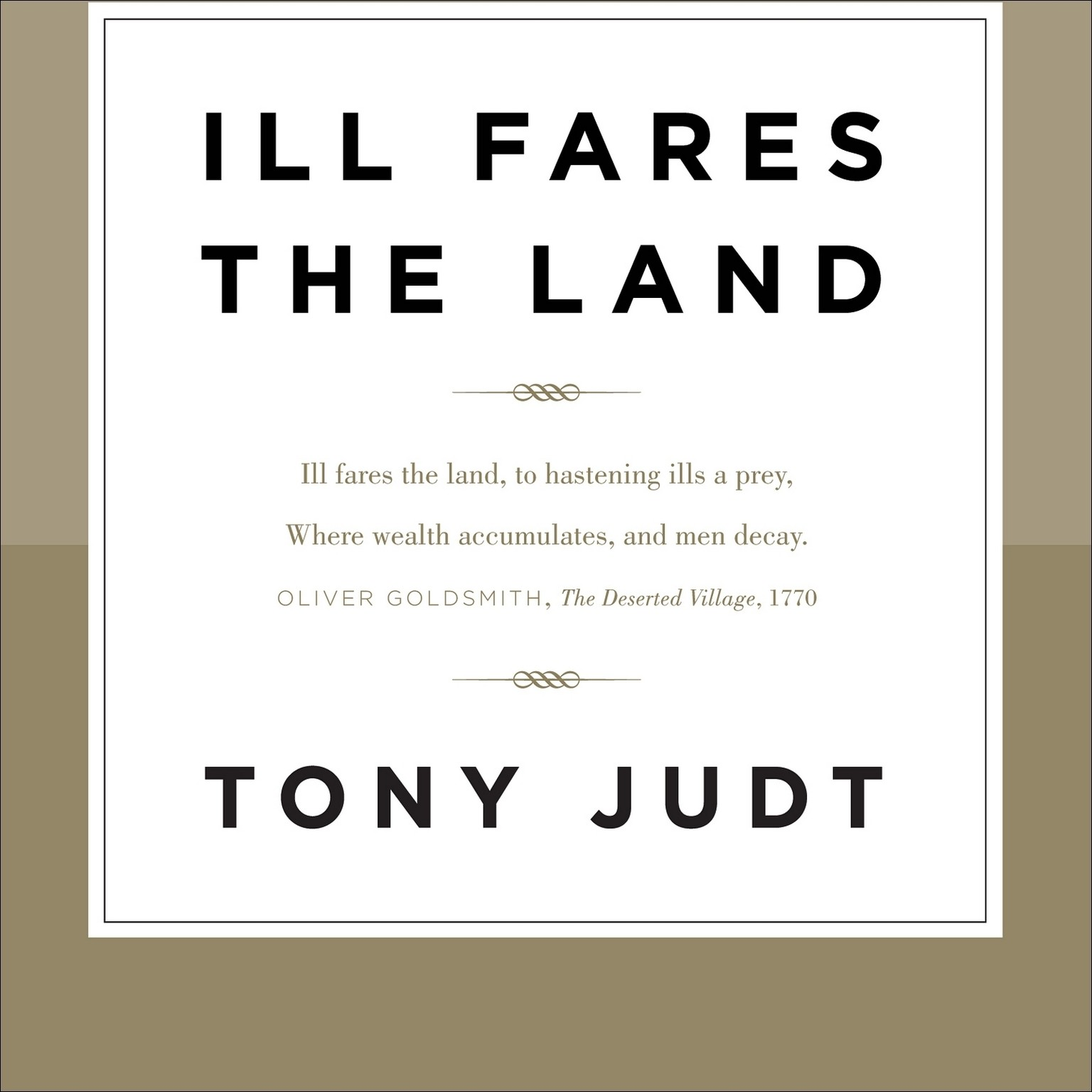 Printable Ill Fares the Land Audiobook Cover Art