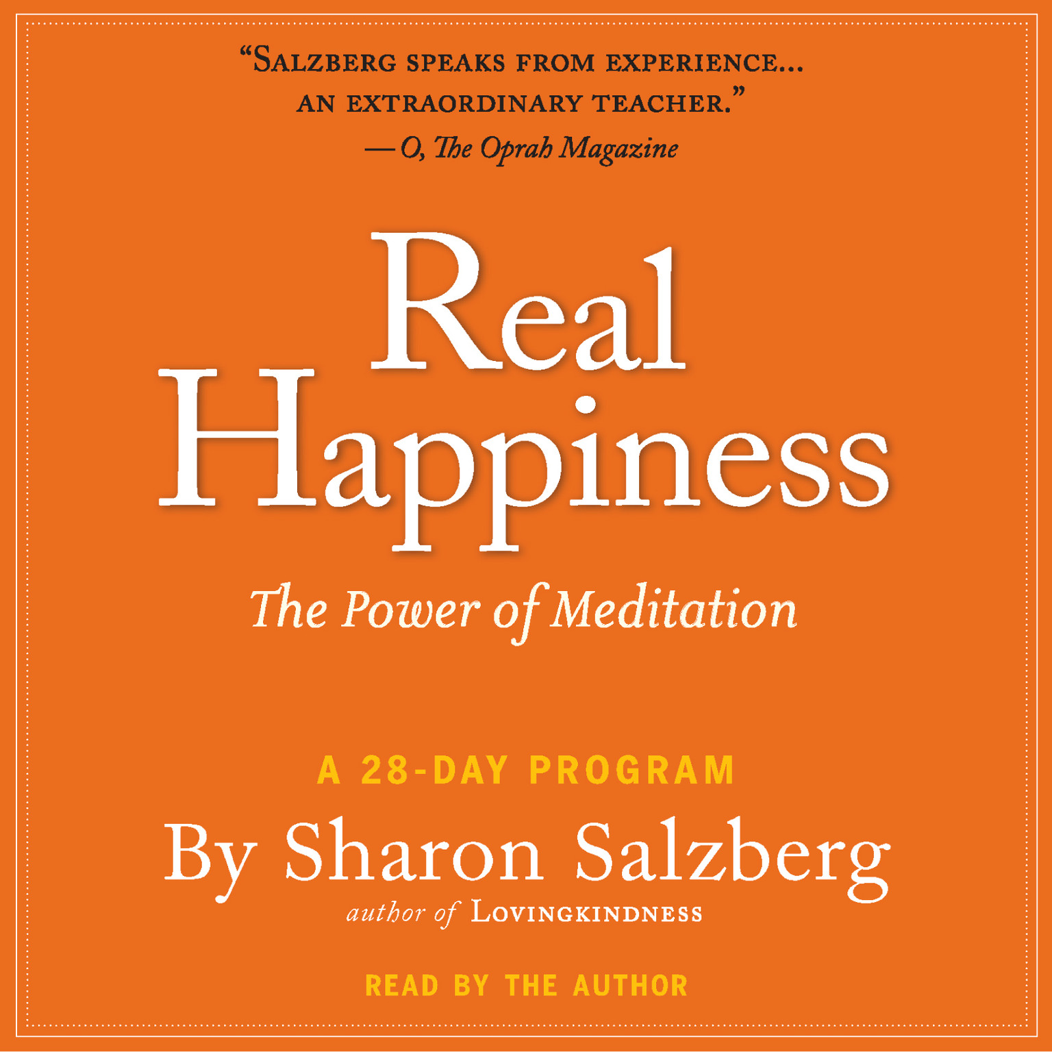 Printable Real Happiness: The Power of Meditation: A 28-Day Program Audiobook Cover Art