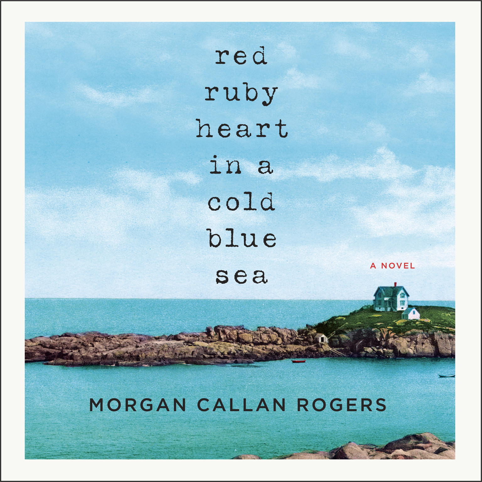 Printable Red Ruby Heart in a Cold Blue Sea Audiobook Cover Art