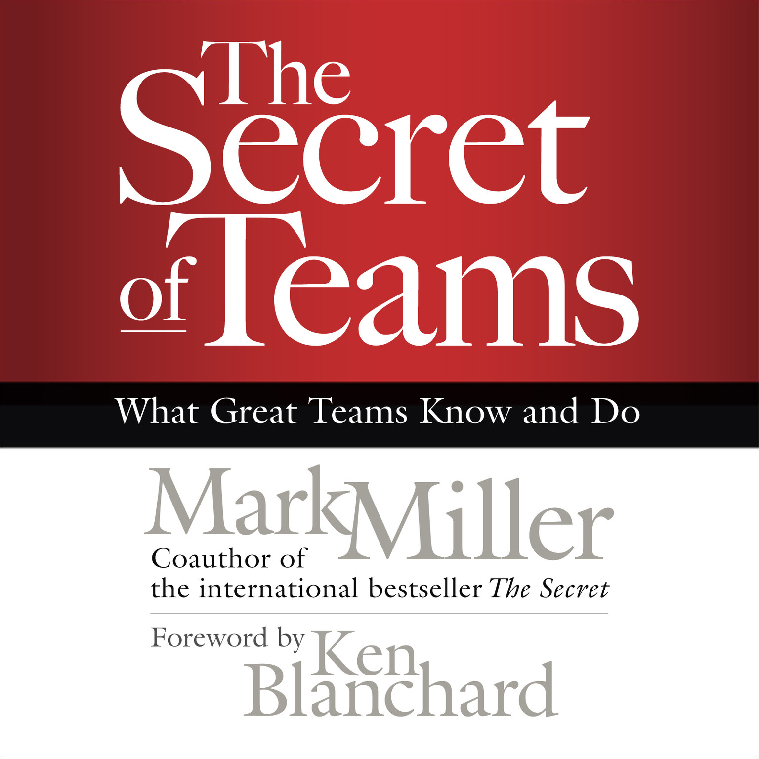 Printable The Secret of Teams: What Great Teams Know and Do Audiobook Cover Art