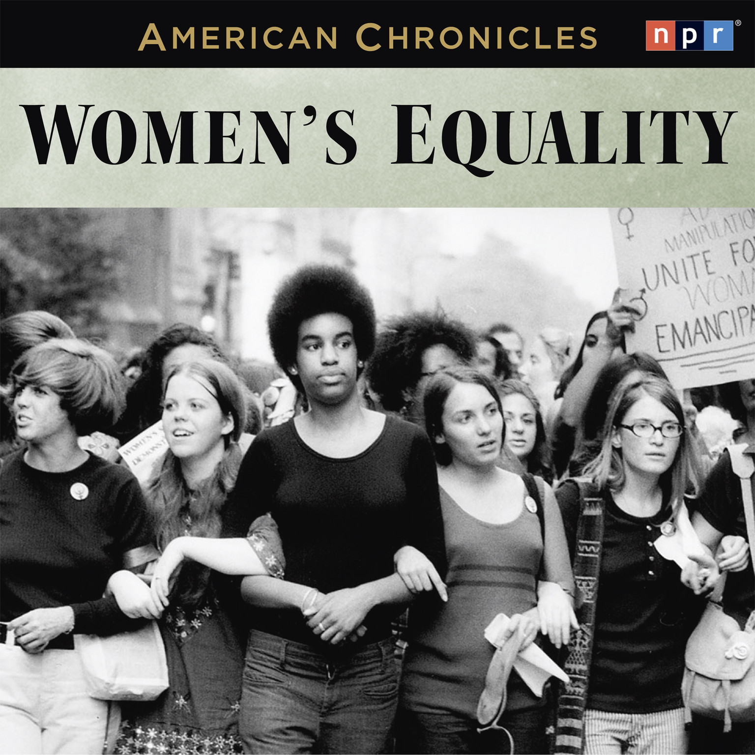 Printable NPR American Chronicles: Women's Equality Audiobook Cover Art