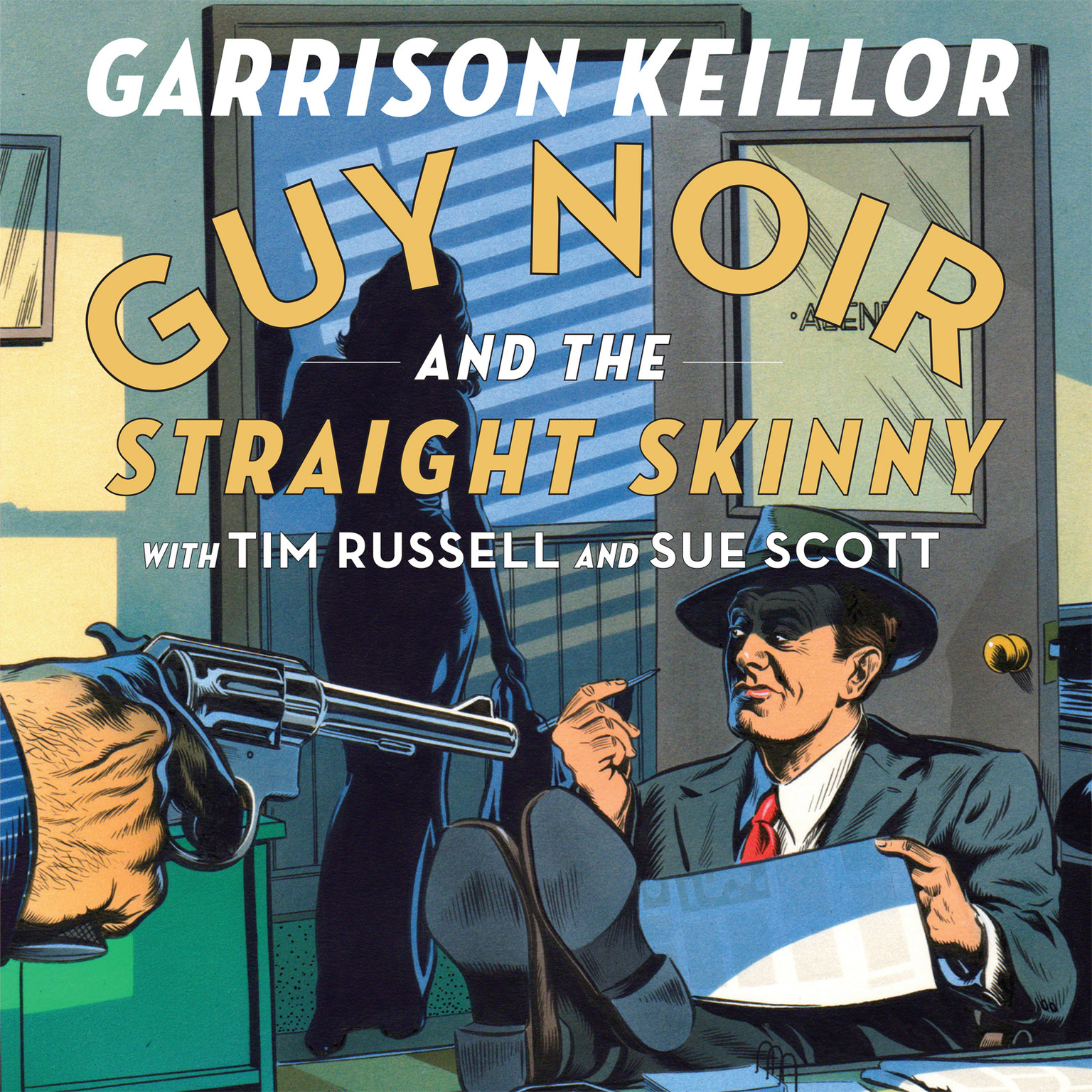 Printable Guy Noir and the Straight Skinny Audiobook Cover Art