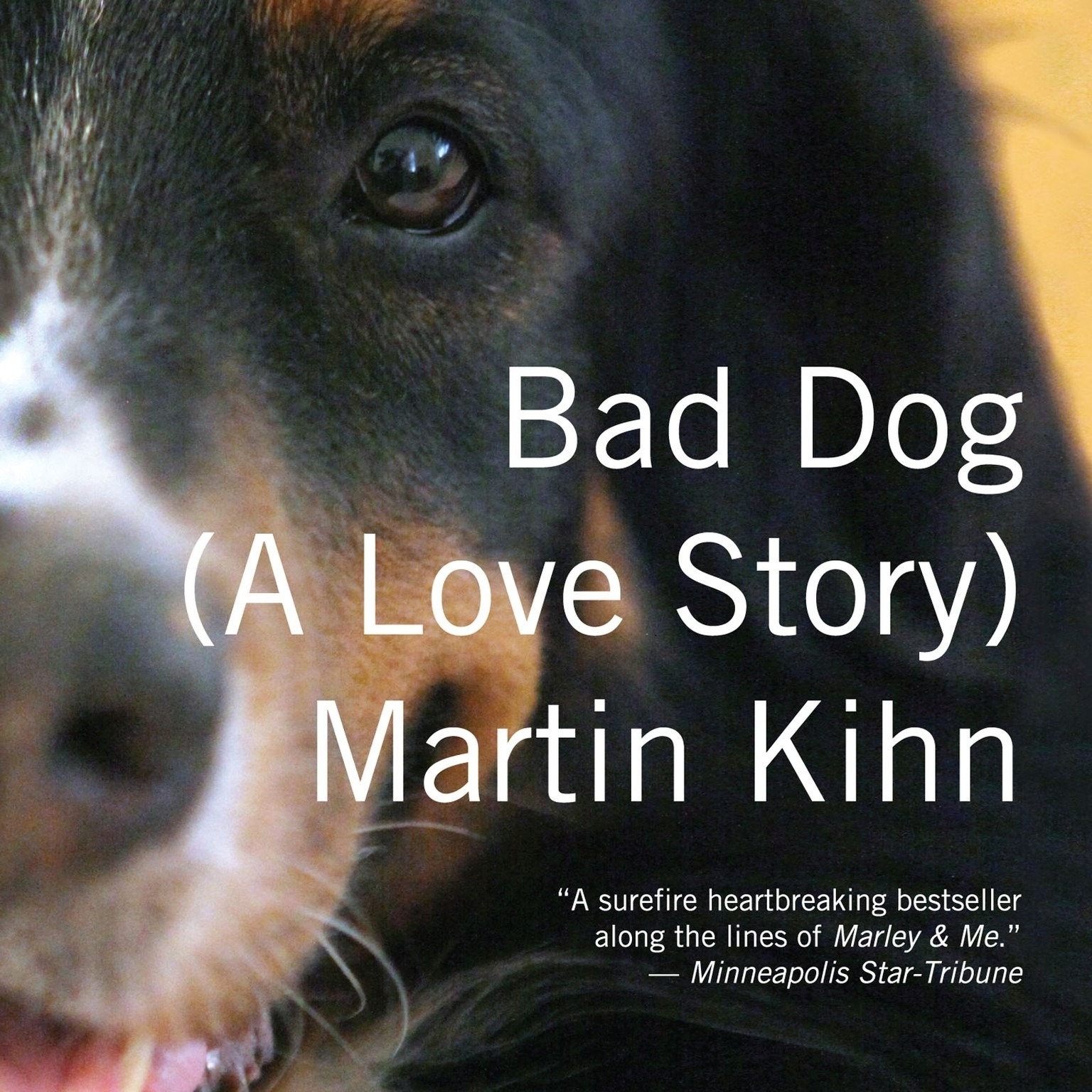 Printable Bad Dog: A Love Story Audiobook Cover Art