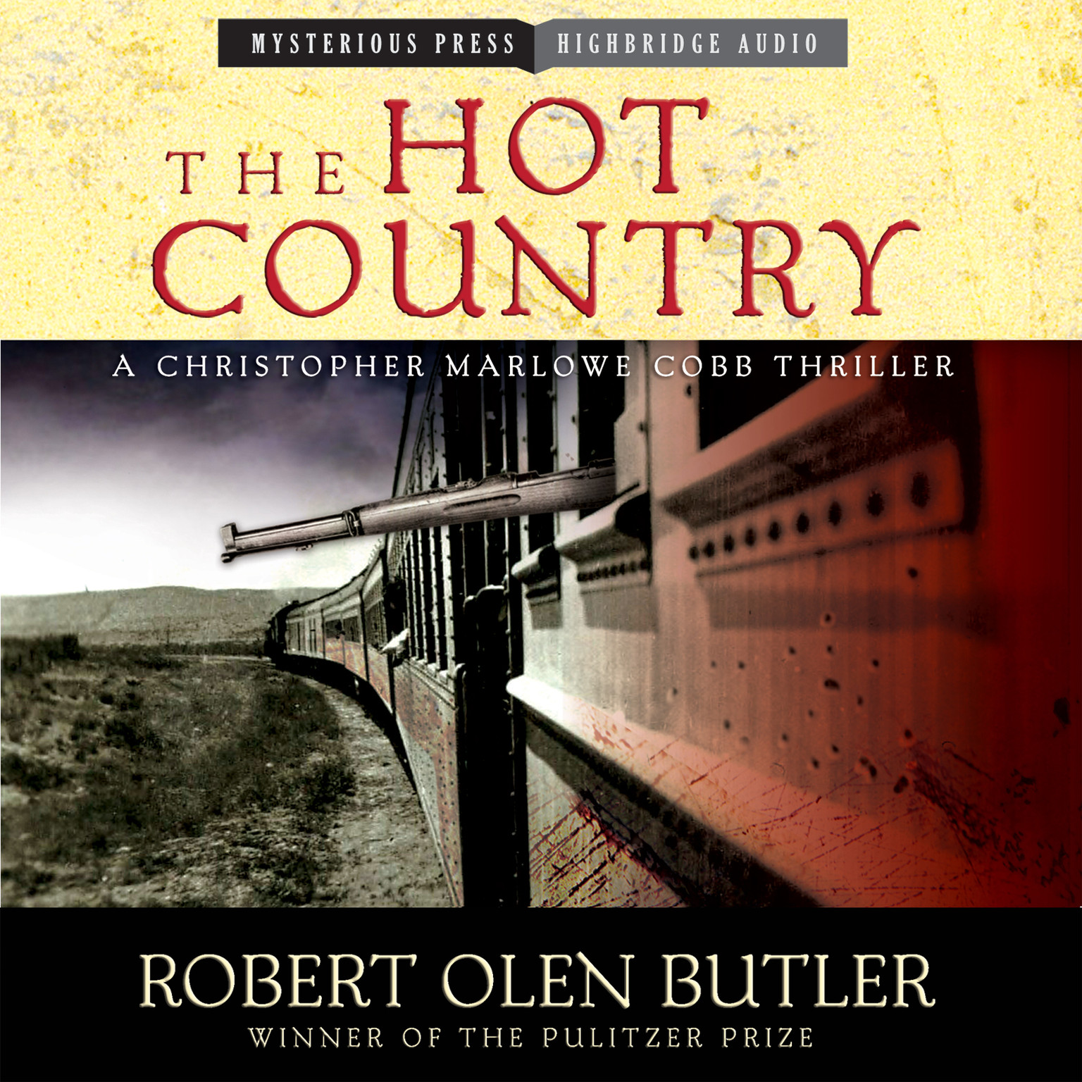 Printable The Hot Country: A Christopher Marlowe Cobb Thriller Audiobook Cover Art