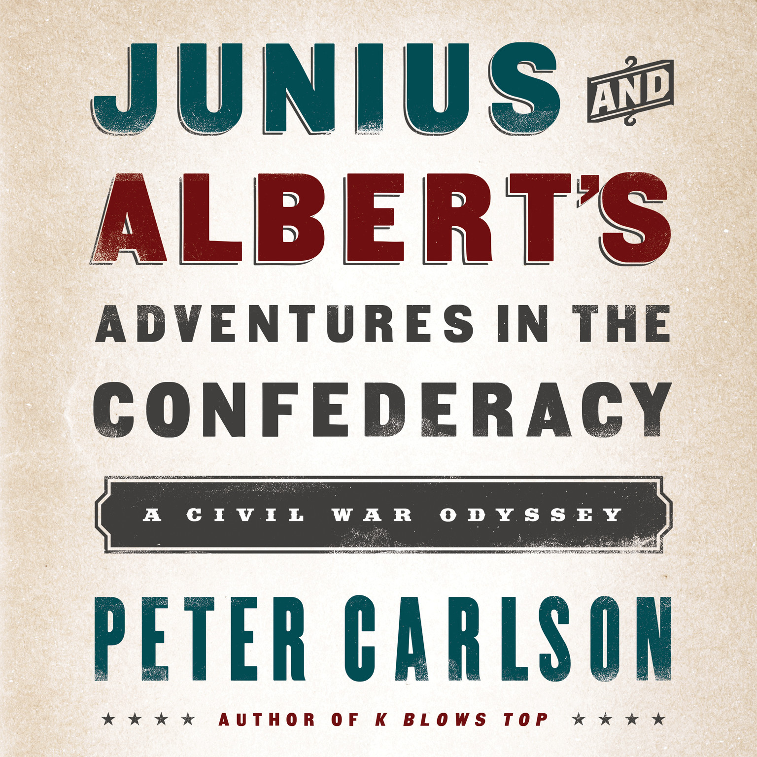 Printable Junius and Albert's Adventures in the Confederacy: A Civil War Odyssey Audiobook Cover Art