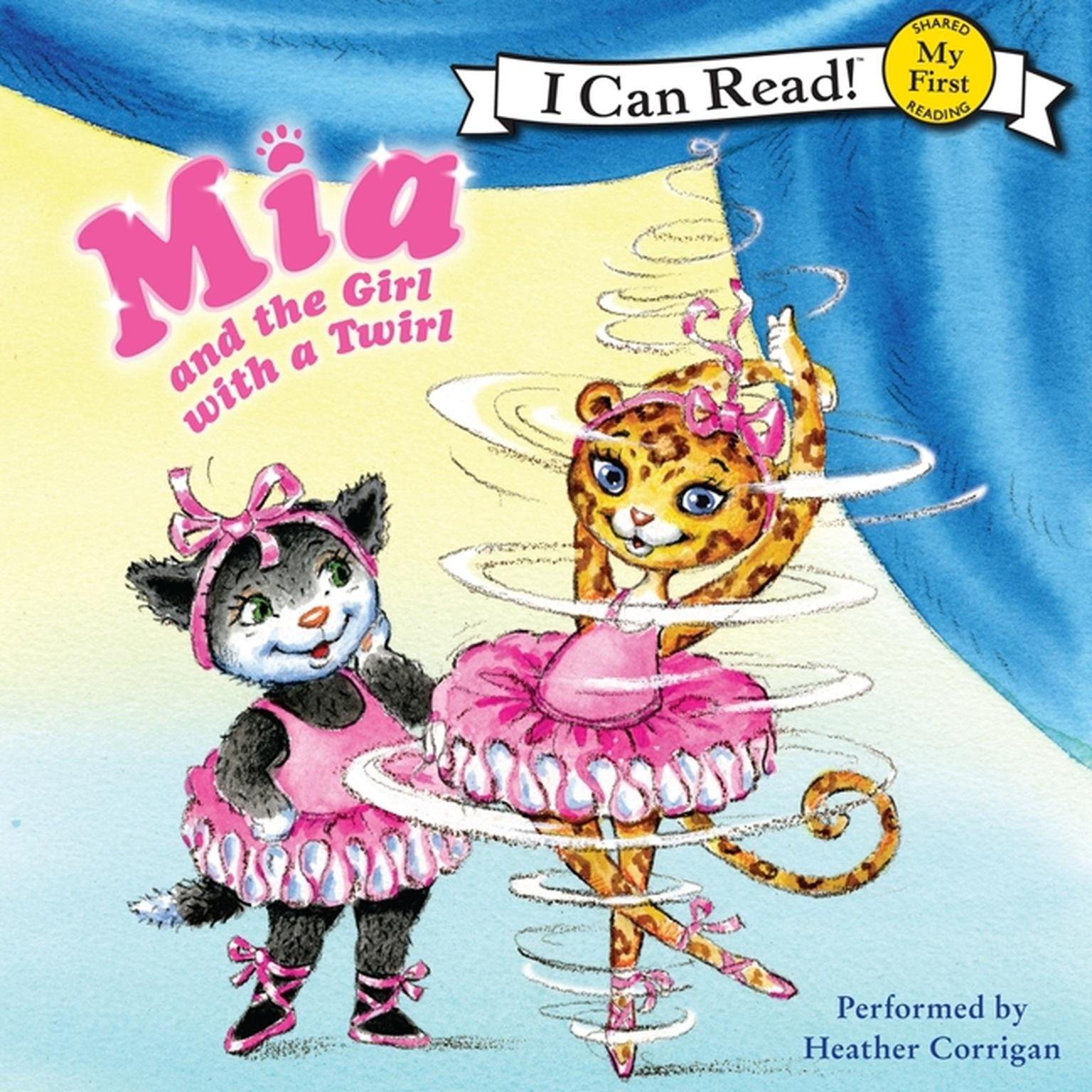 Printable Mia and the Girl with a Twirl Audiobook Cover Art
