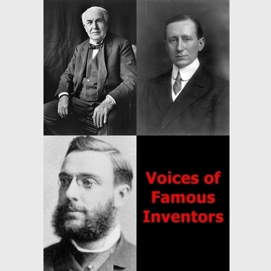 Printable Voices of Famous Inventors Audiobook Cover Art