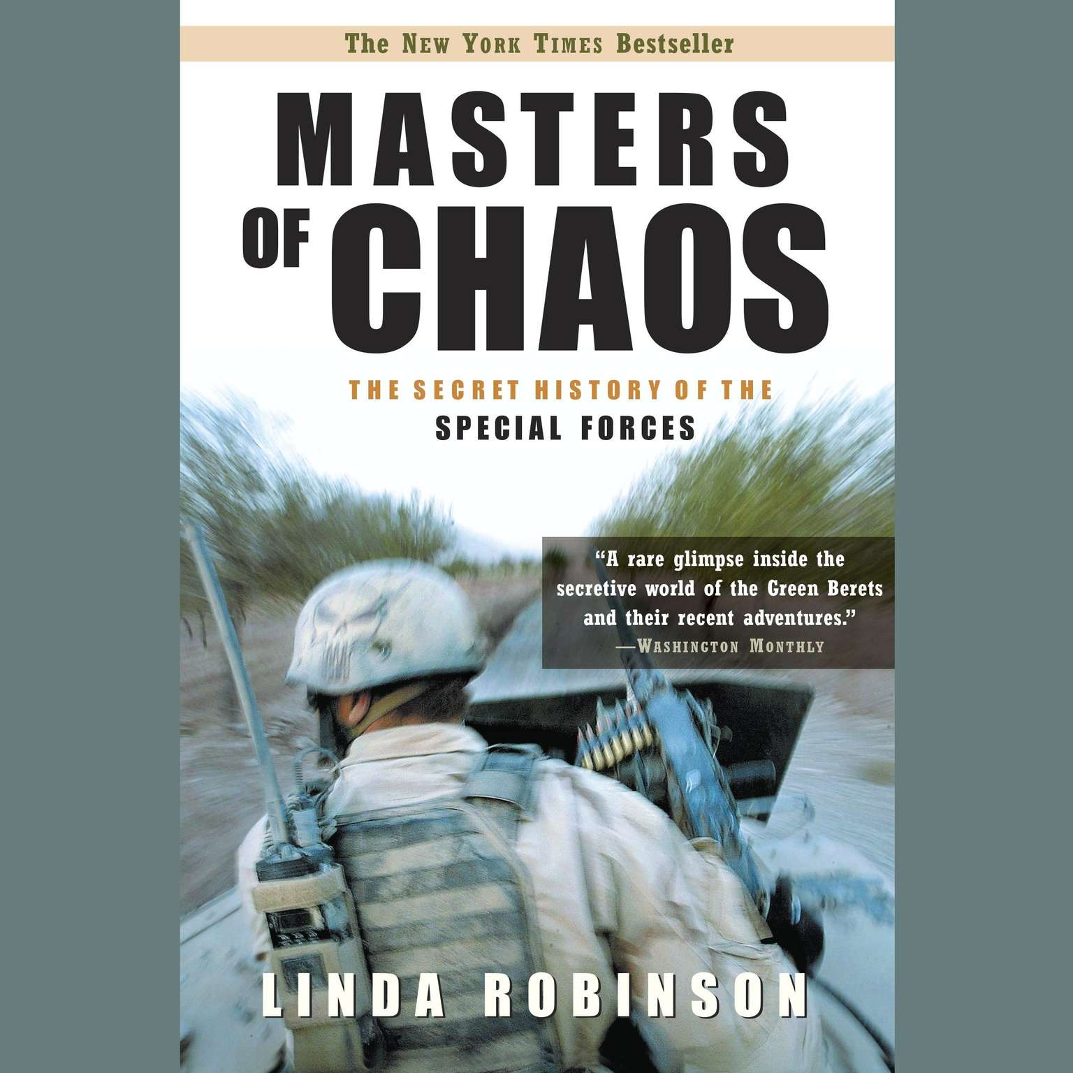 Printable Masters of Chaos: The Secret History of Special Forces Audiobook Cover Art
