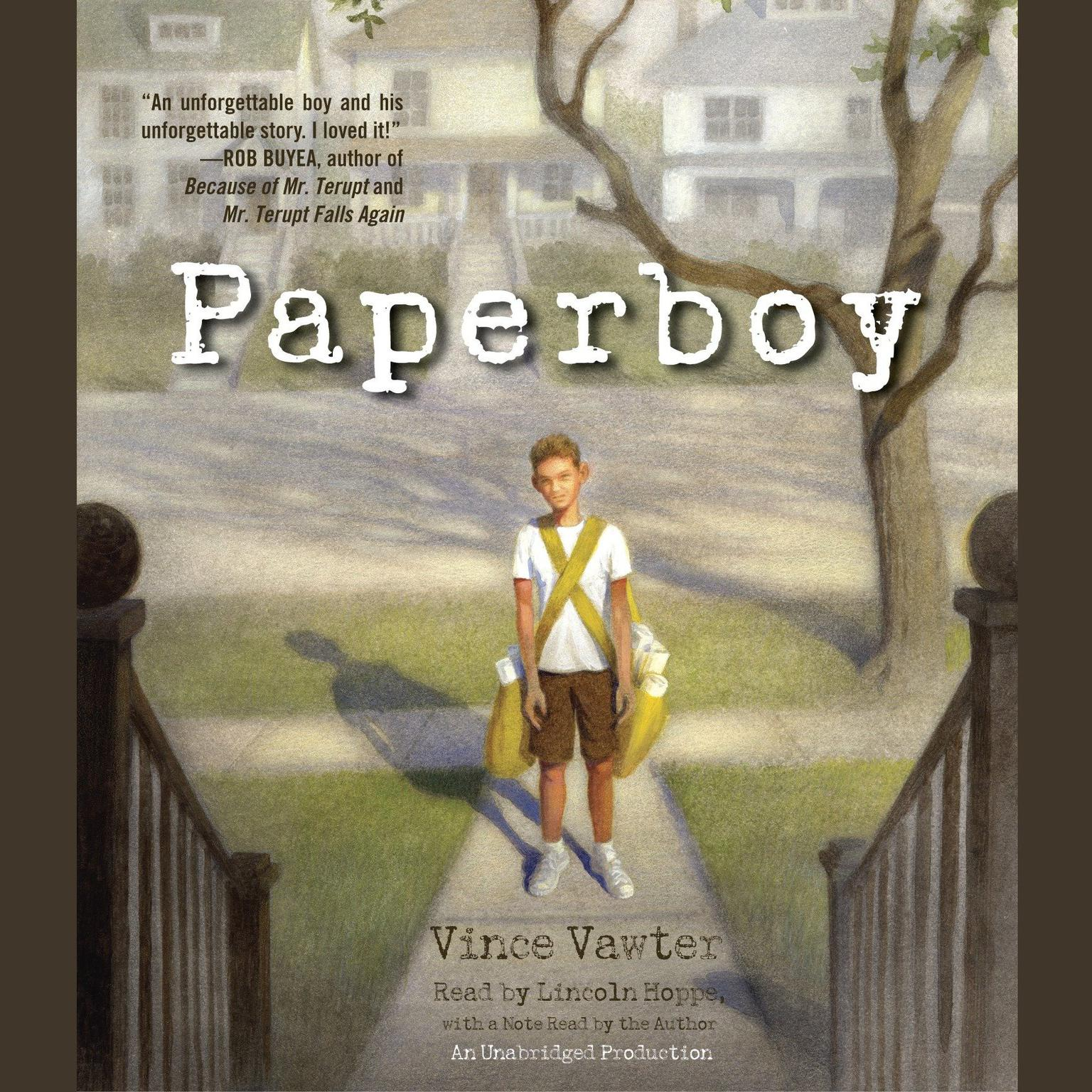 Printable Paperboy Audiobook Cover Art