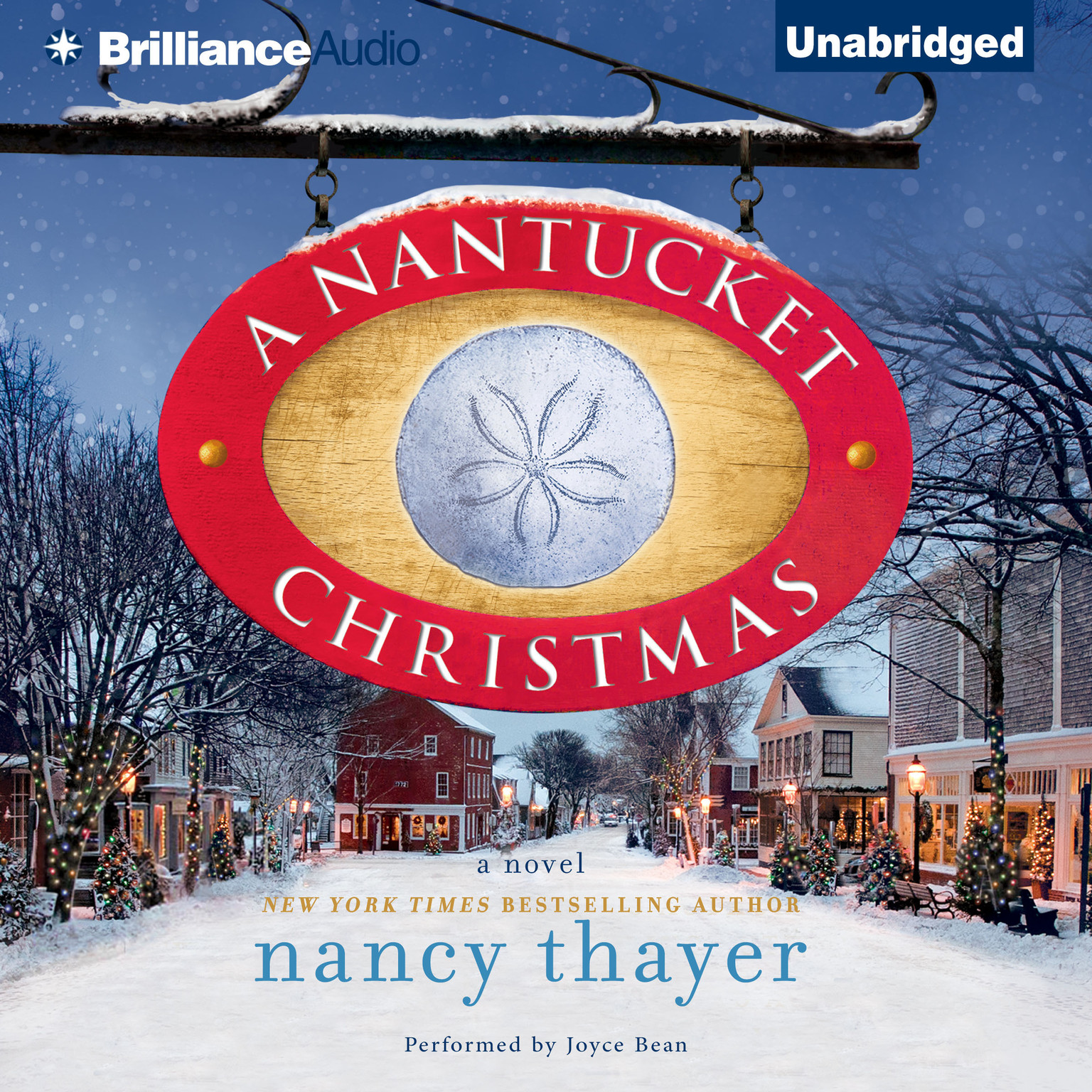 Printable A Nantucket Christmas: A Novel Audiobook Cover Art