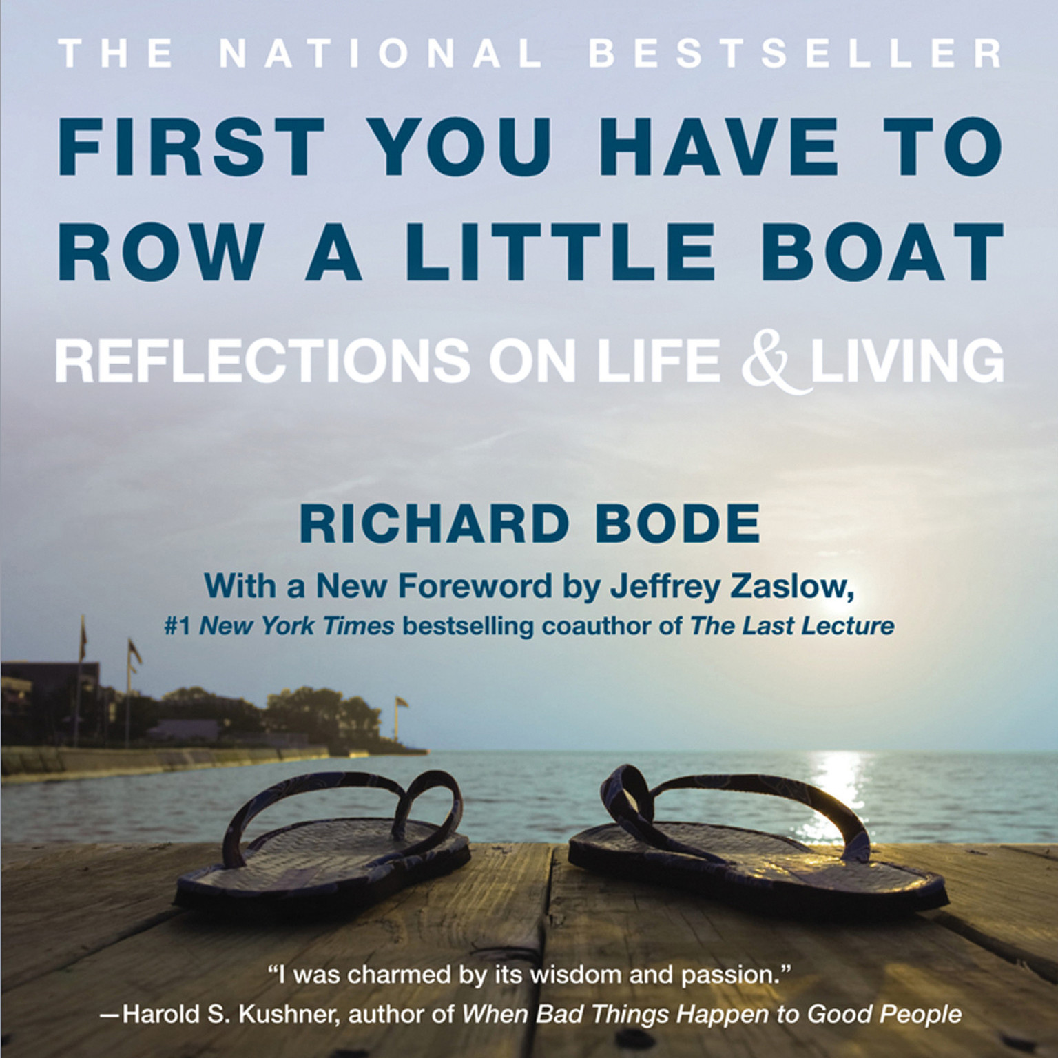 Printable First You Have to Row a Little Boat: Reflections on Life & Living Audiobook Cover Art