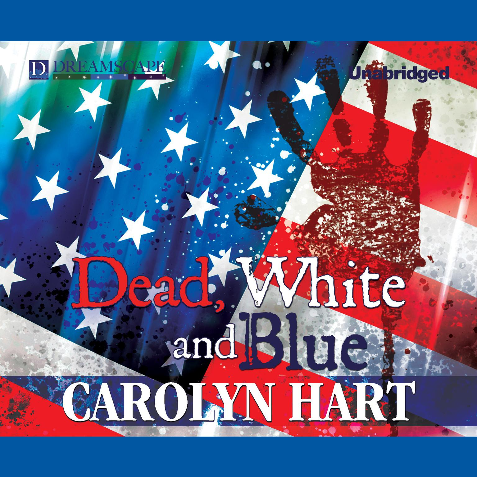 Printable Dead, White, and Blue: A Death on Demand Mystery Audiobook Cover Art