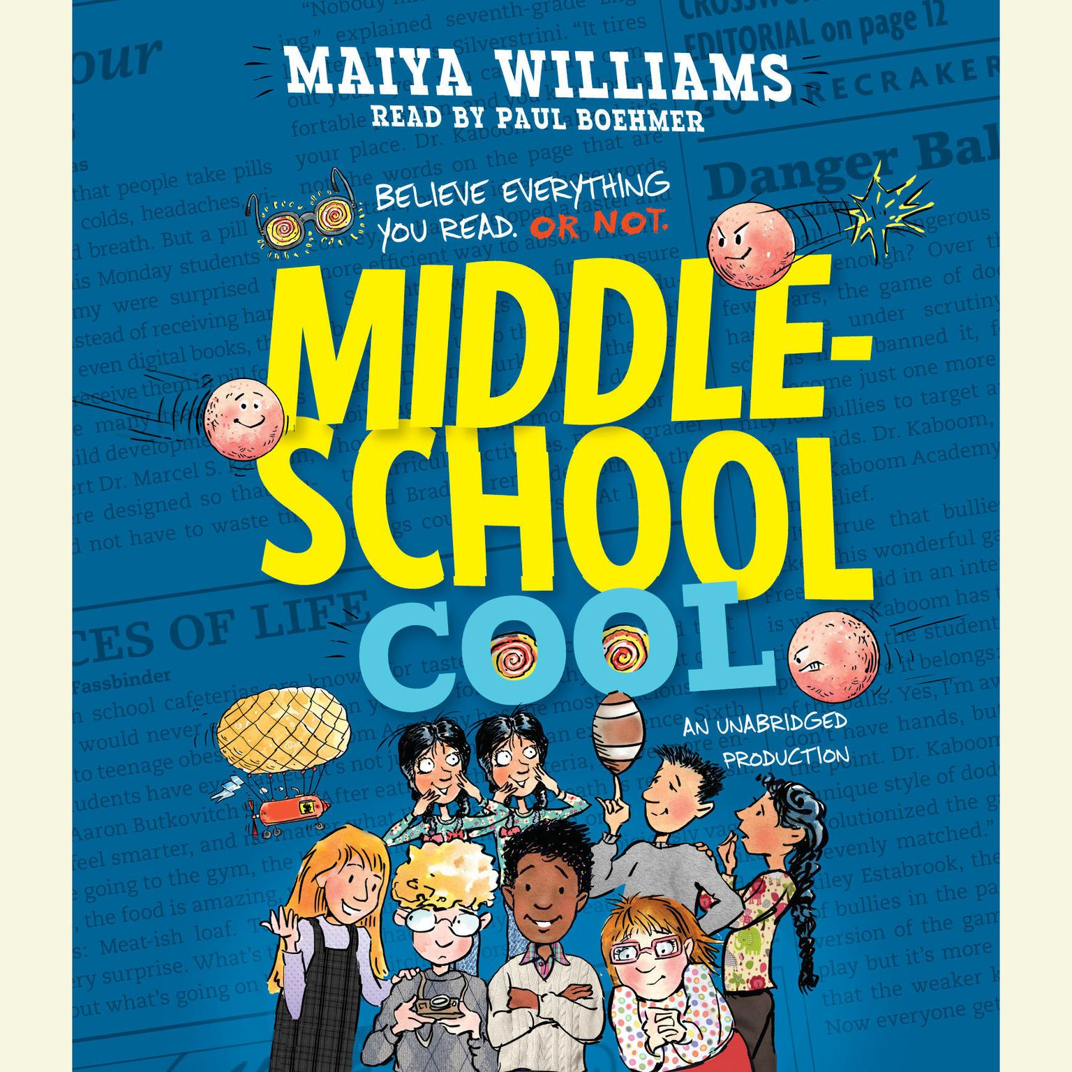 Printable Middle-School Cool Audiobook Cover Art