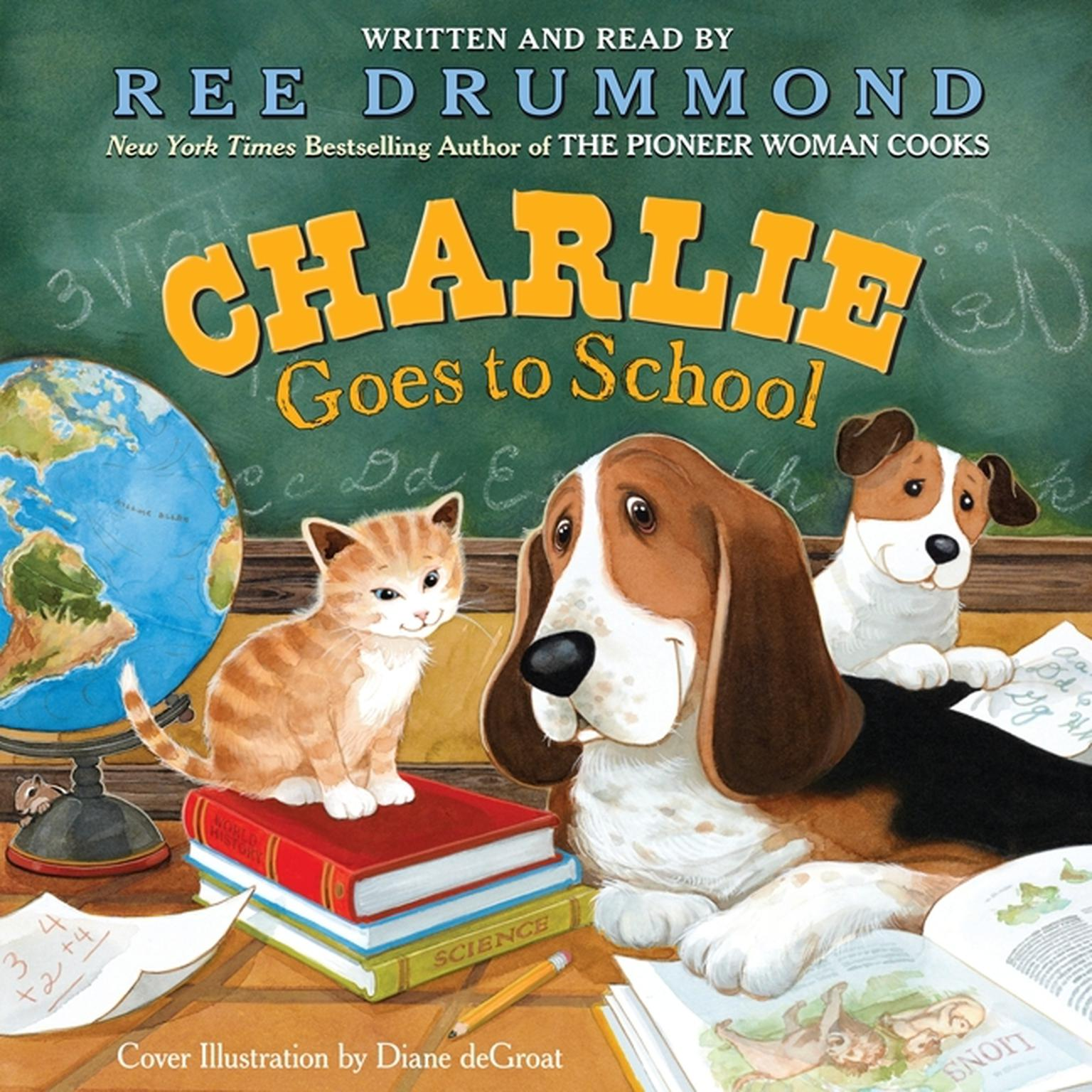 Printable Charlie Goes to School Audiobook Cover Art
