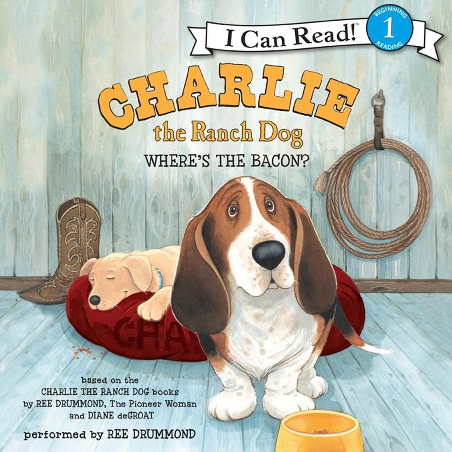 Printable Charlie the Ranch Dog: Where's the Bacon? Audiobook Cover Art