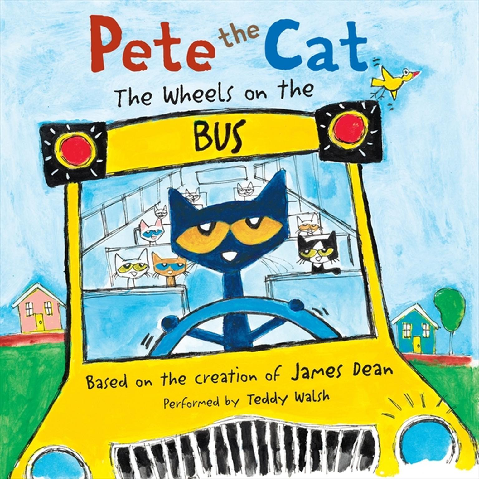 Printable Pete the Cat: The Wheels on the Bus Audiobook Cover Art