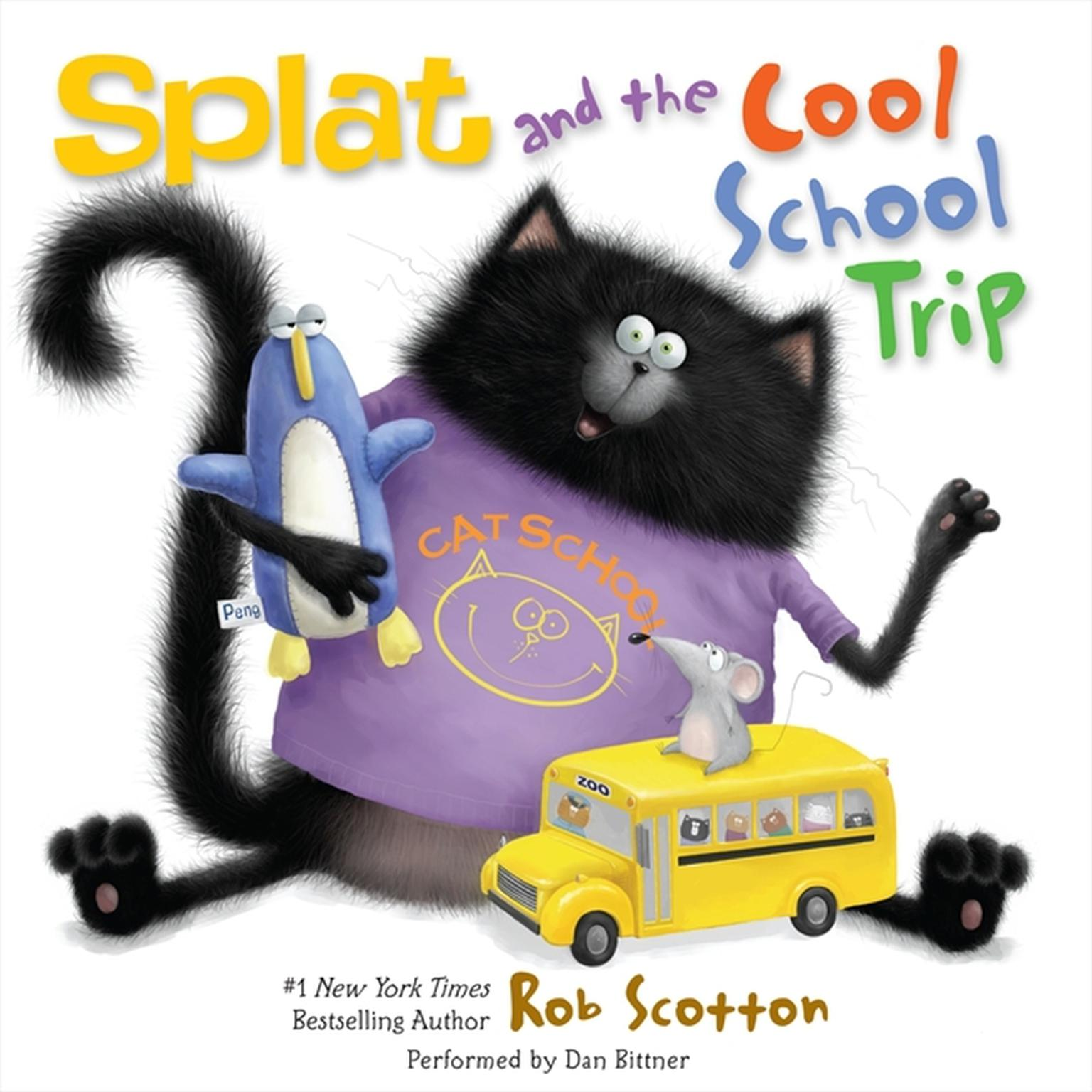 Printable Splat and the Cool School Trip Audiobook Cover Art