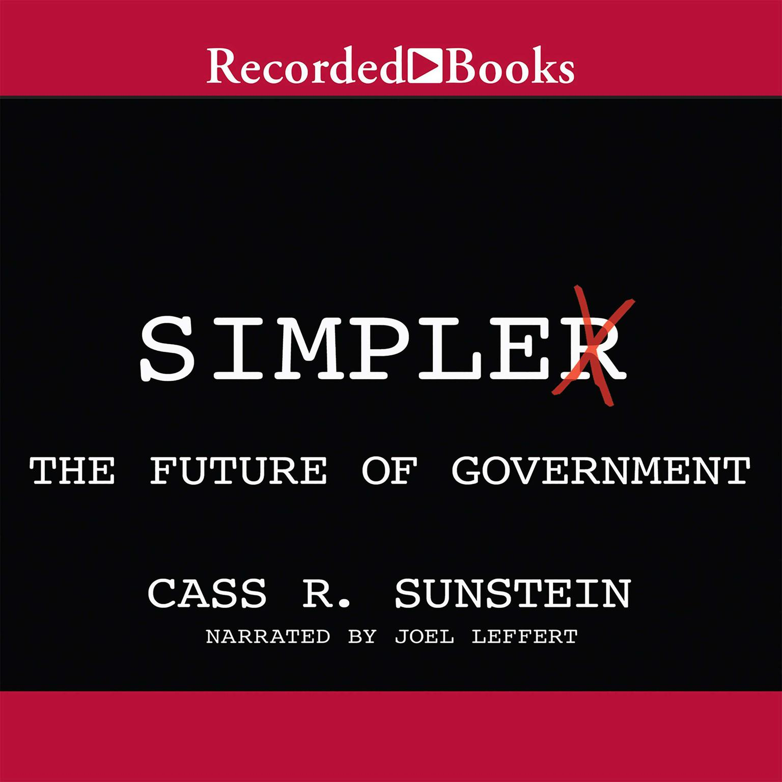 Printable Simpler: The Future of Government Audiobook Cover Art