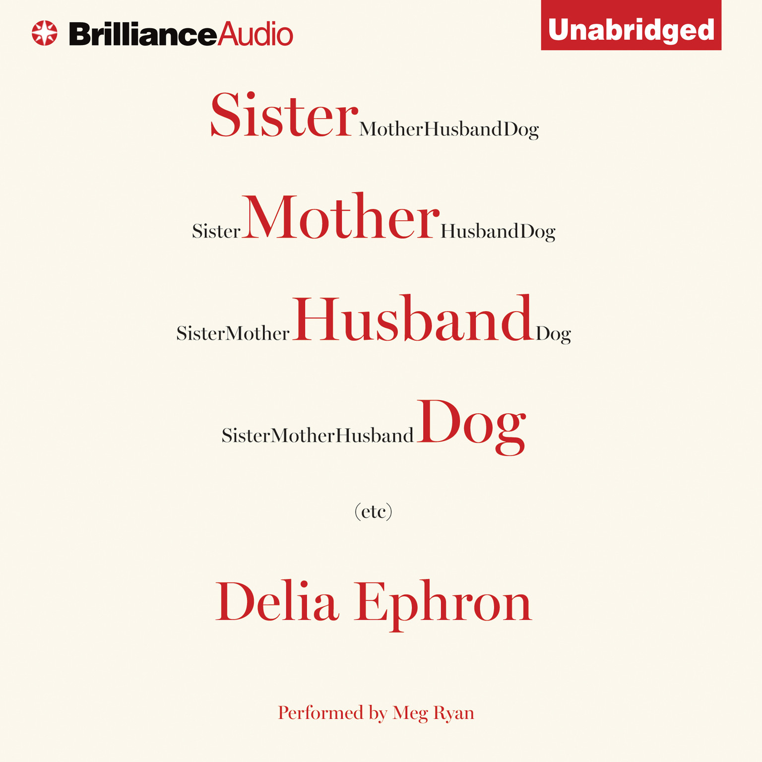 Printable Sister Mother Husband Dog: Etc. Audiobook Cover Art