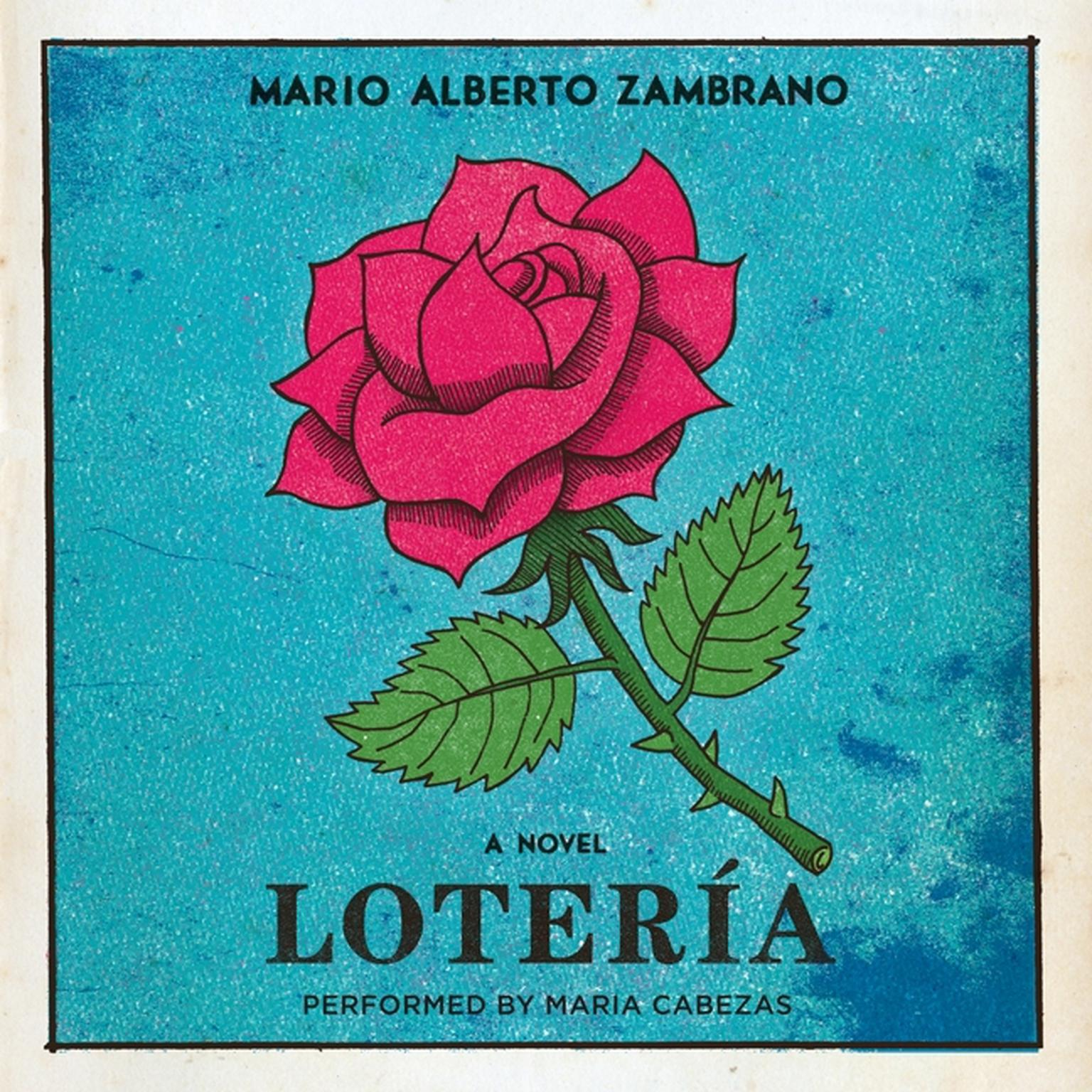 Printable Loteria: A Novel Audiobook Cover Art