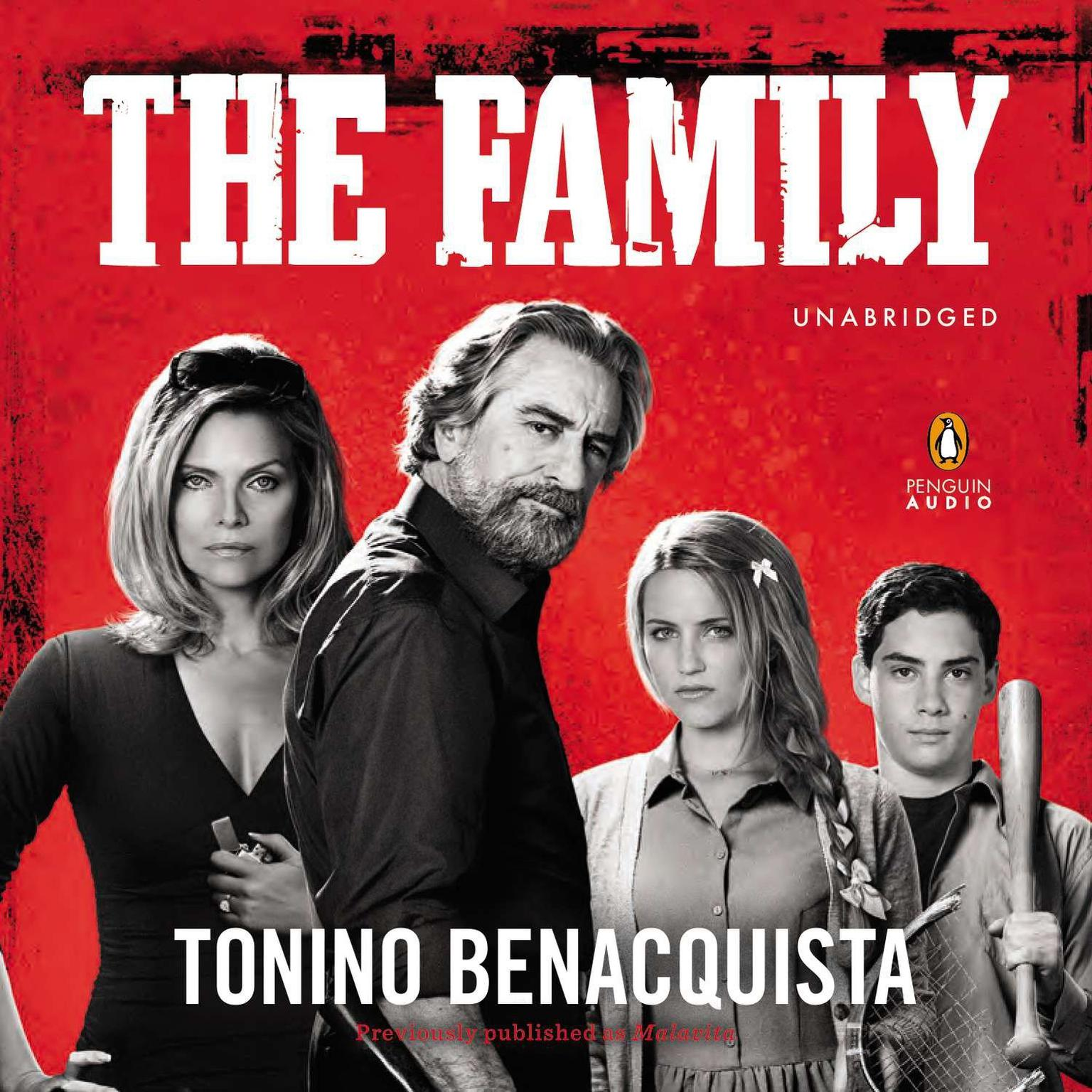 Printable The Family: A Novel (Movie Tie-In), previously published as Malavita Audiobook Cover Art