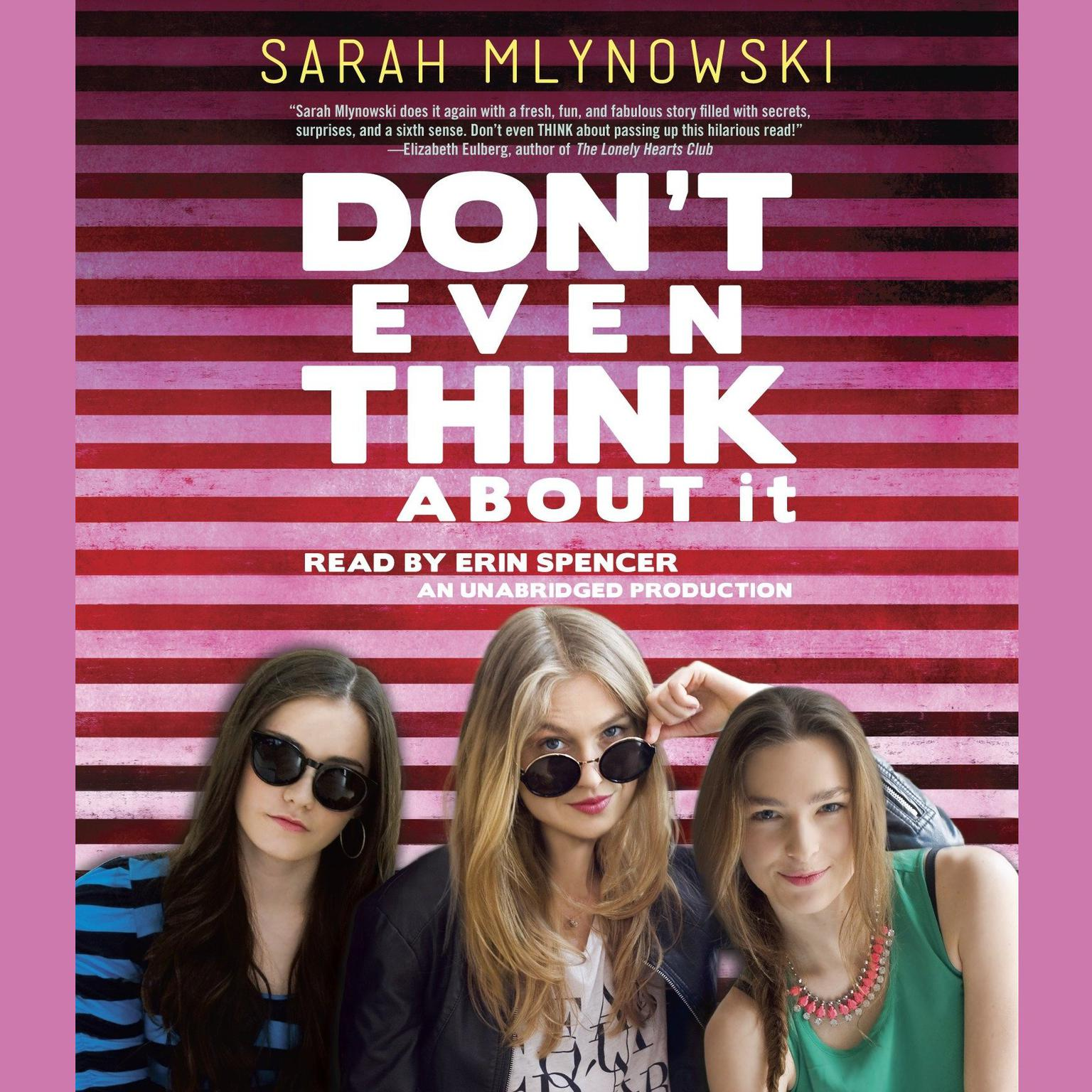 Printable Don't Even Think about It Audiobook Cover Art