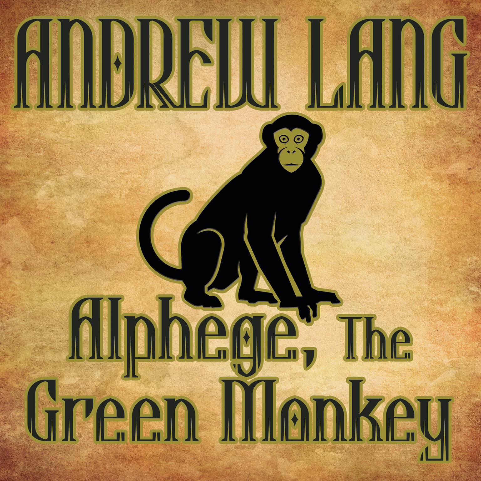 Printable Alphege, the Green Monkey Audiobook Cover Art