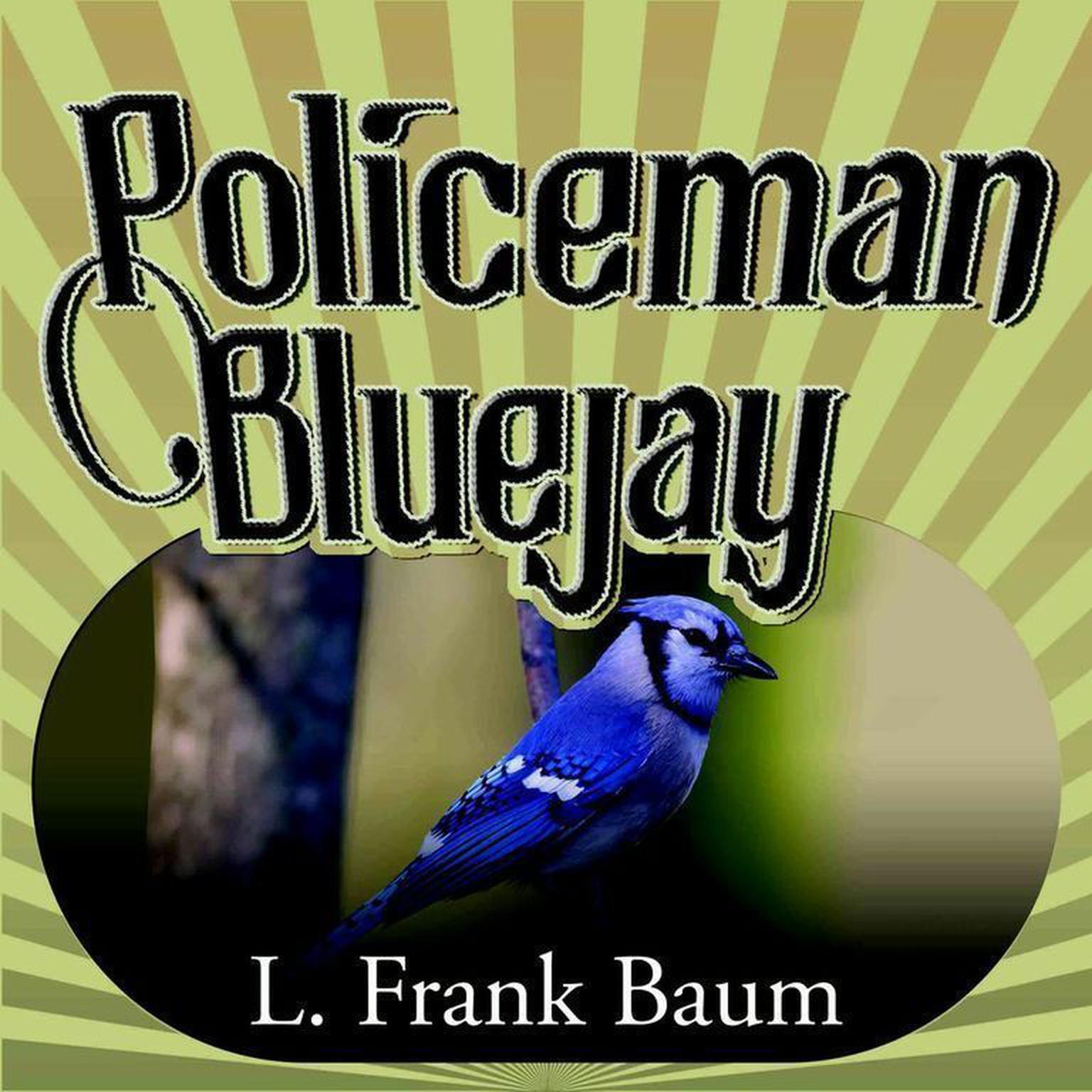 Printable Policeman Bluejay Audiobook Cover Art