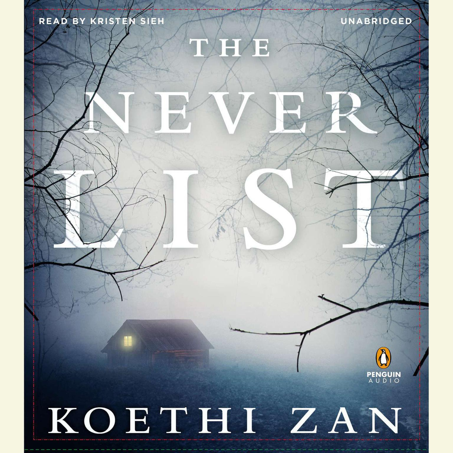 Printable The Never List Audiobook Cover Art