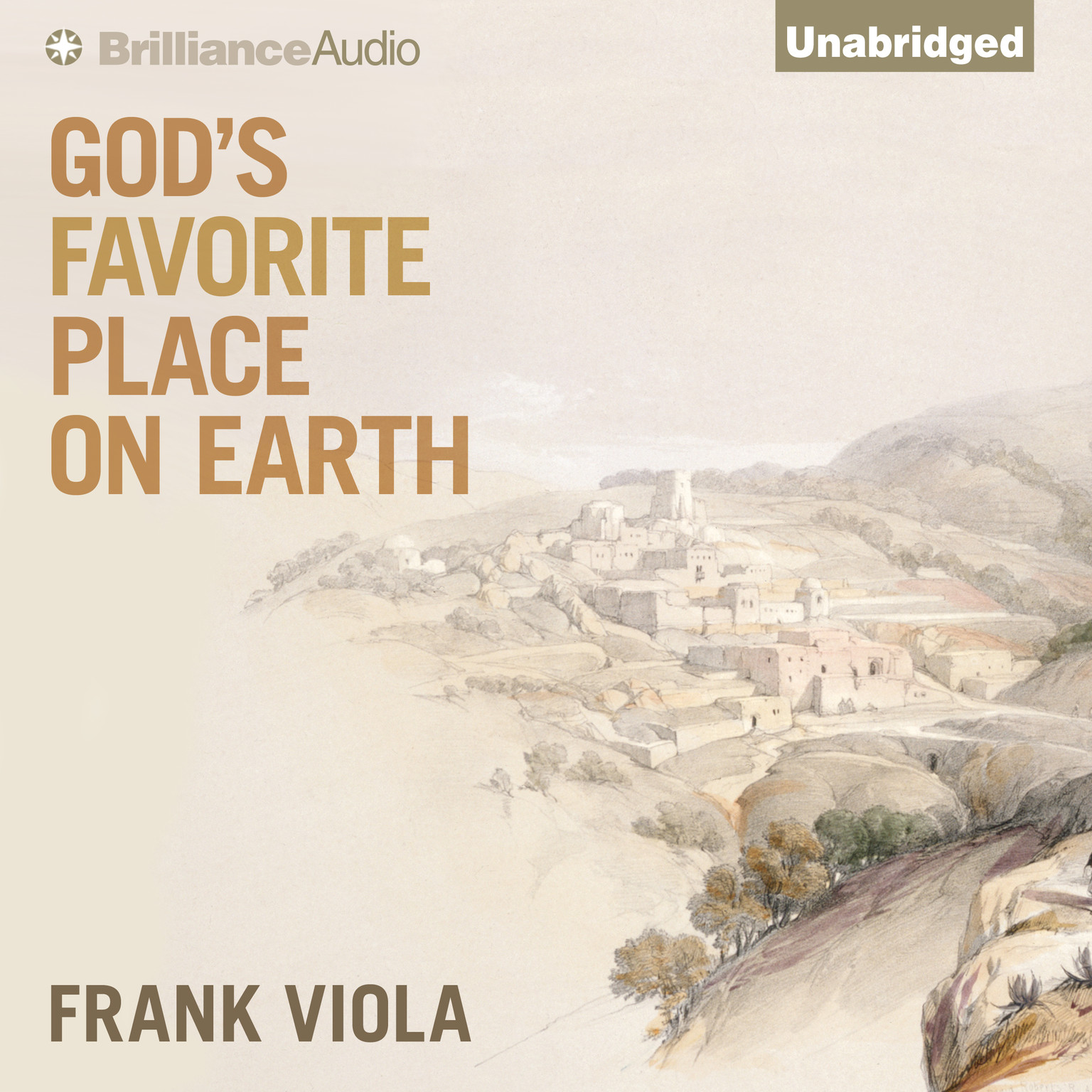 Printable God's Favorite Place on Earth Audiobook Cover Art