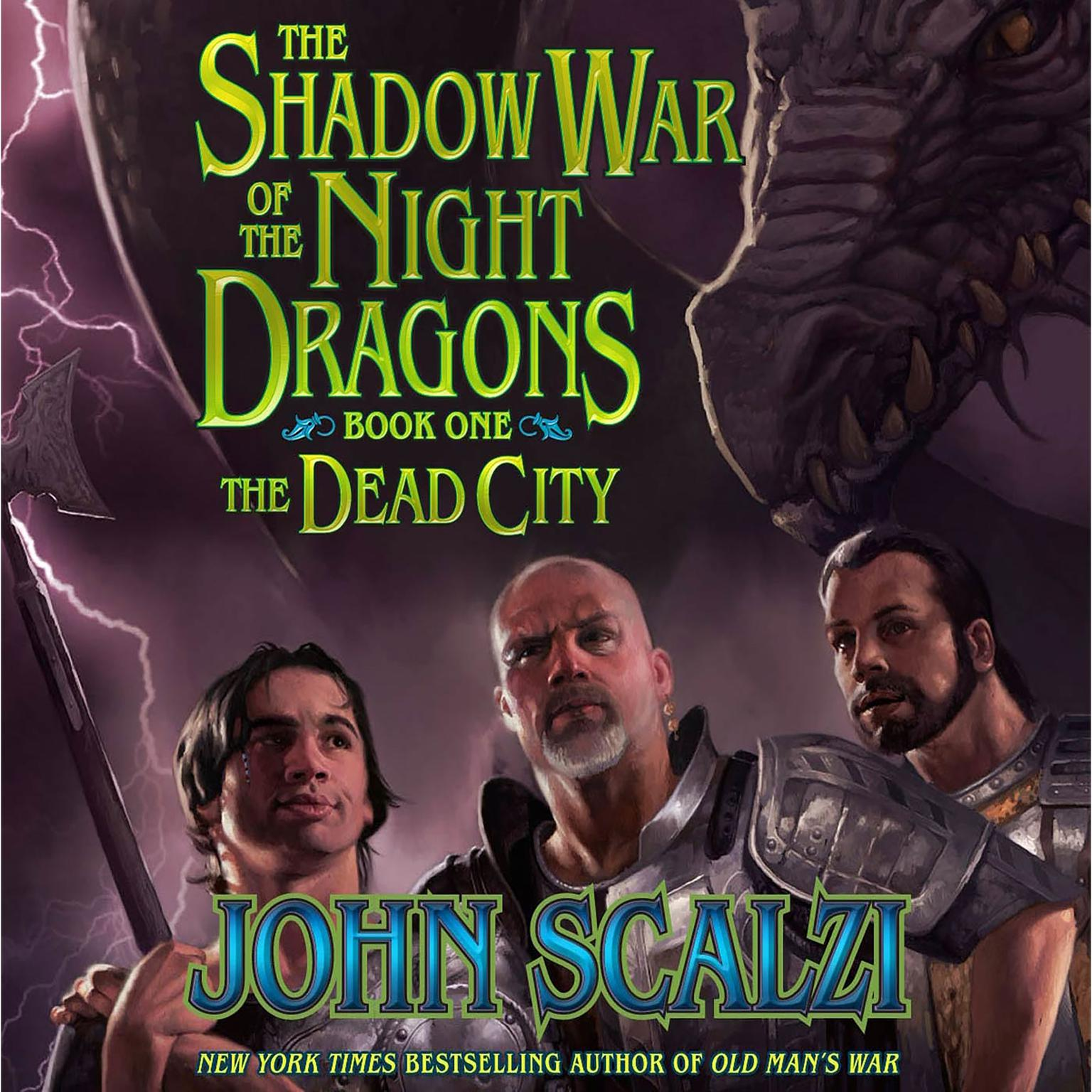 Printable Shadow War of the Night Dragons, Book One: The Dead City: Prologue: A Tor.com Original Audiobook Cover Art