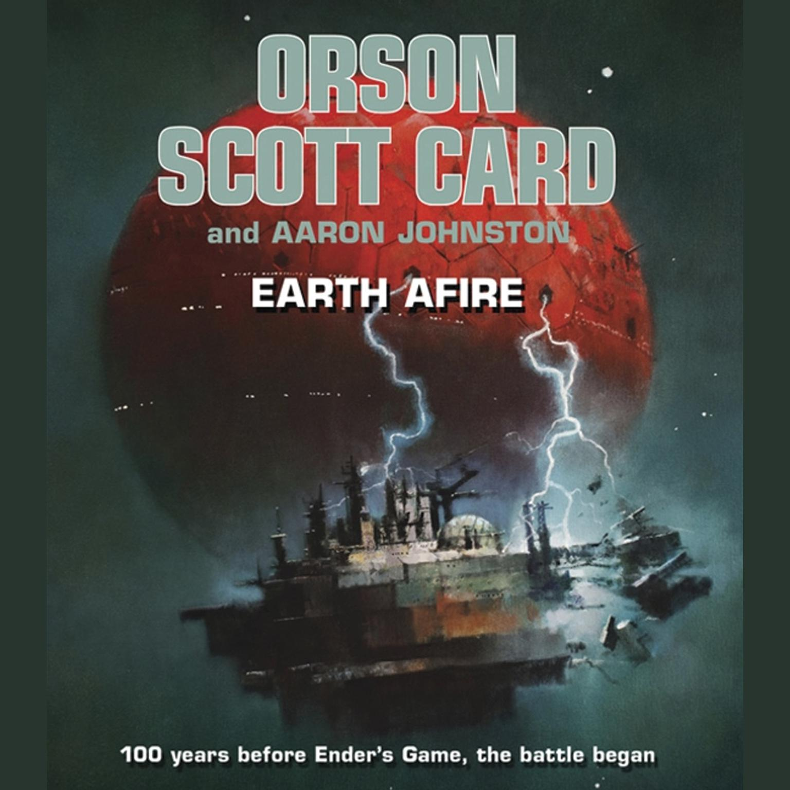 Printable Earth Afire Audiobook Cover Art