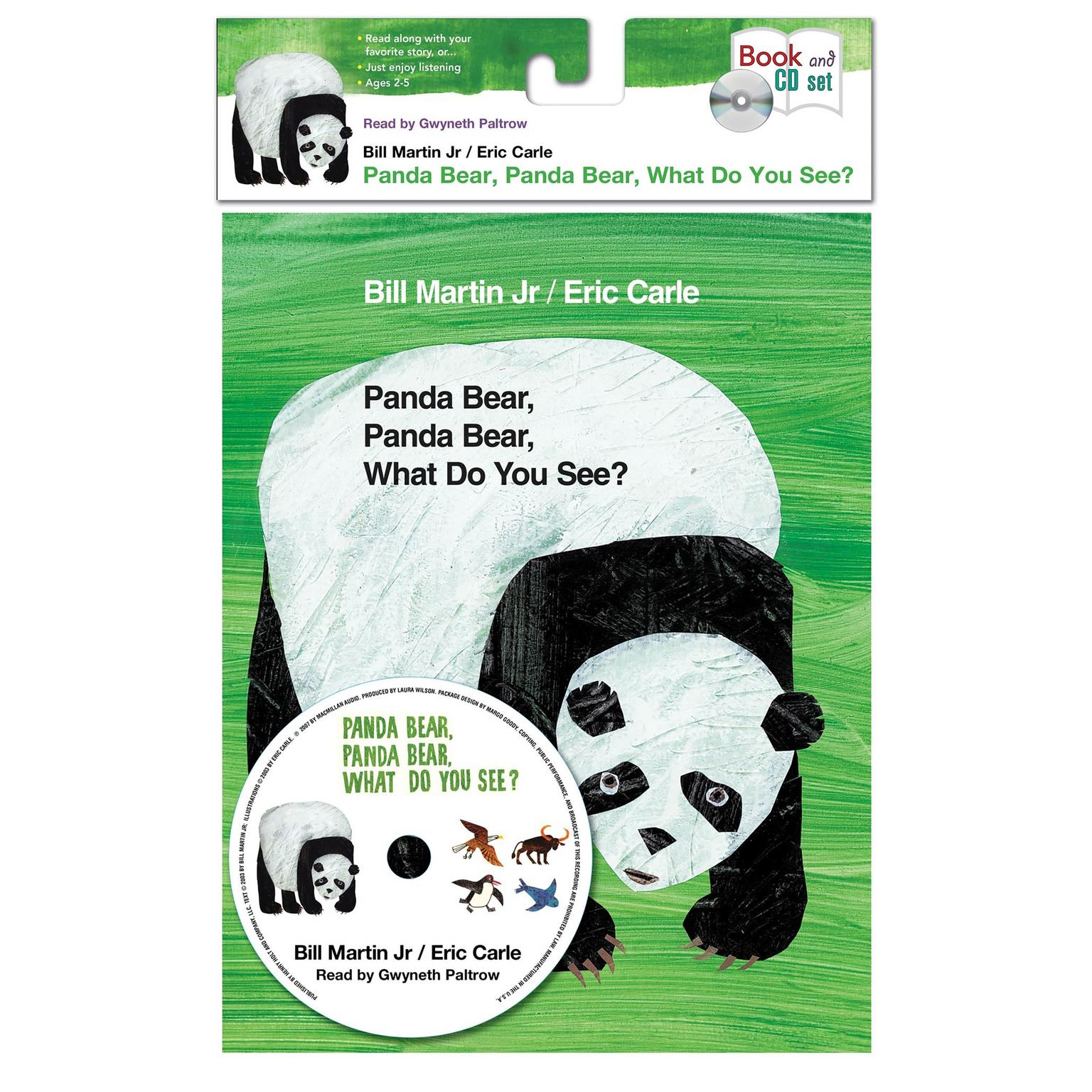 Printable Panda Bear, Panda Bear, What Do You See? Audiobook Cover Art