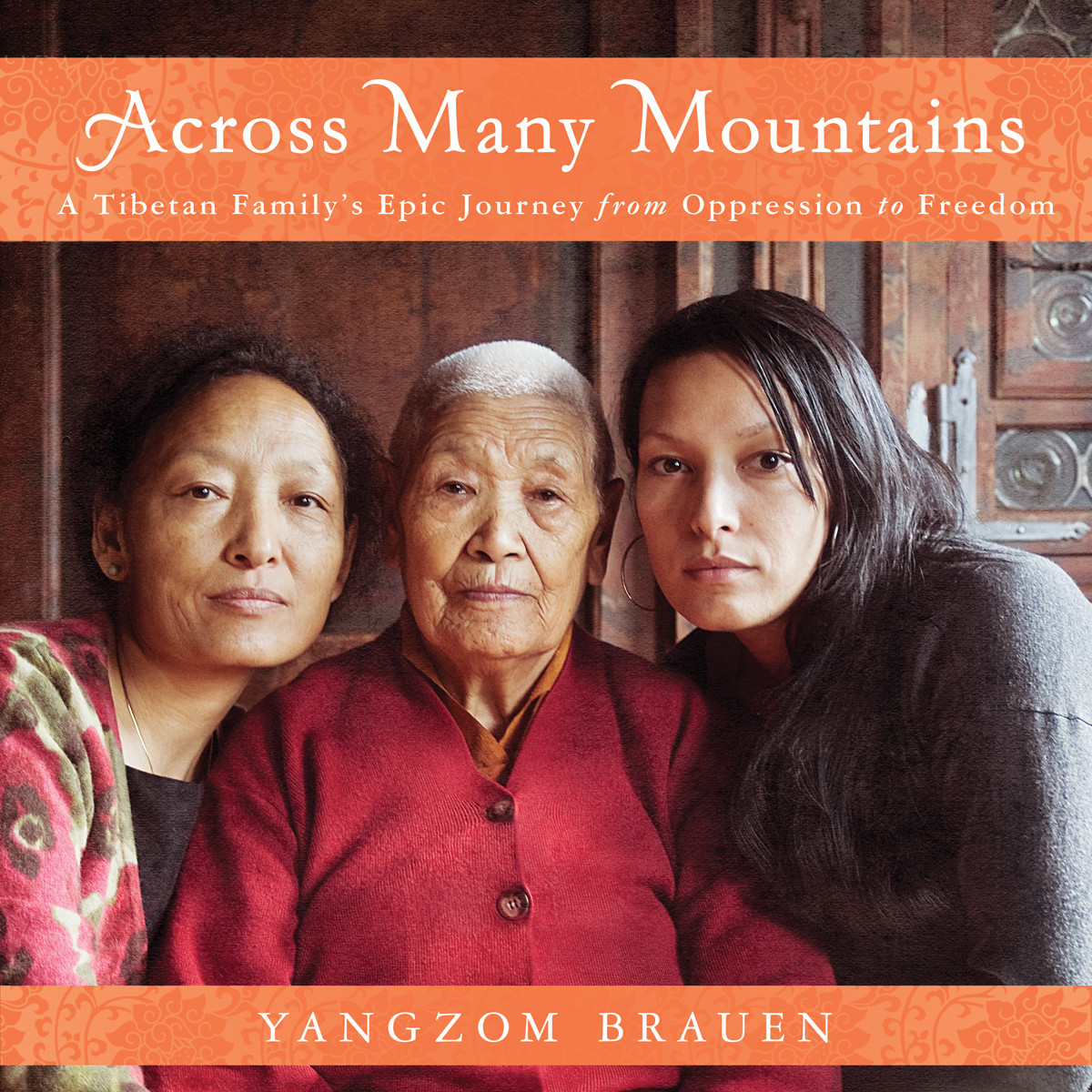 Printable Across Many Mountains: A Tibetan Family's Epic Journey from Oppression to Freedom Audiobook Cover Art