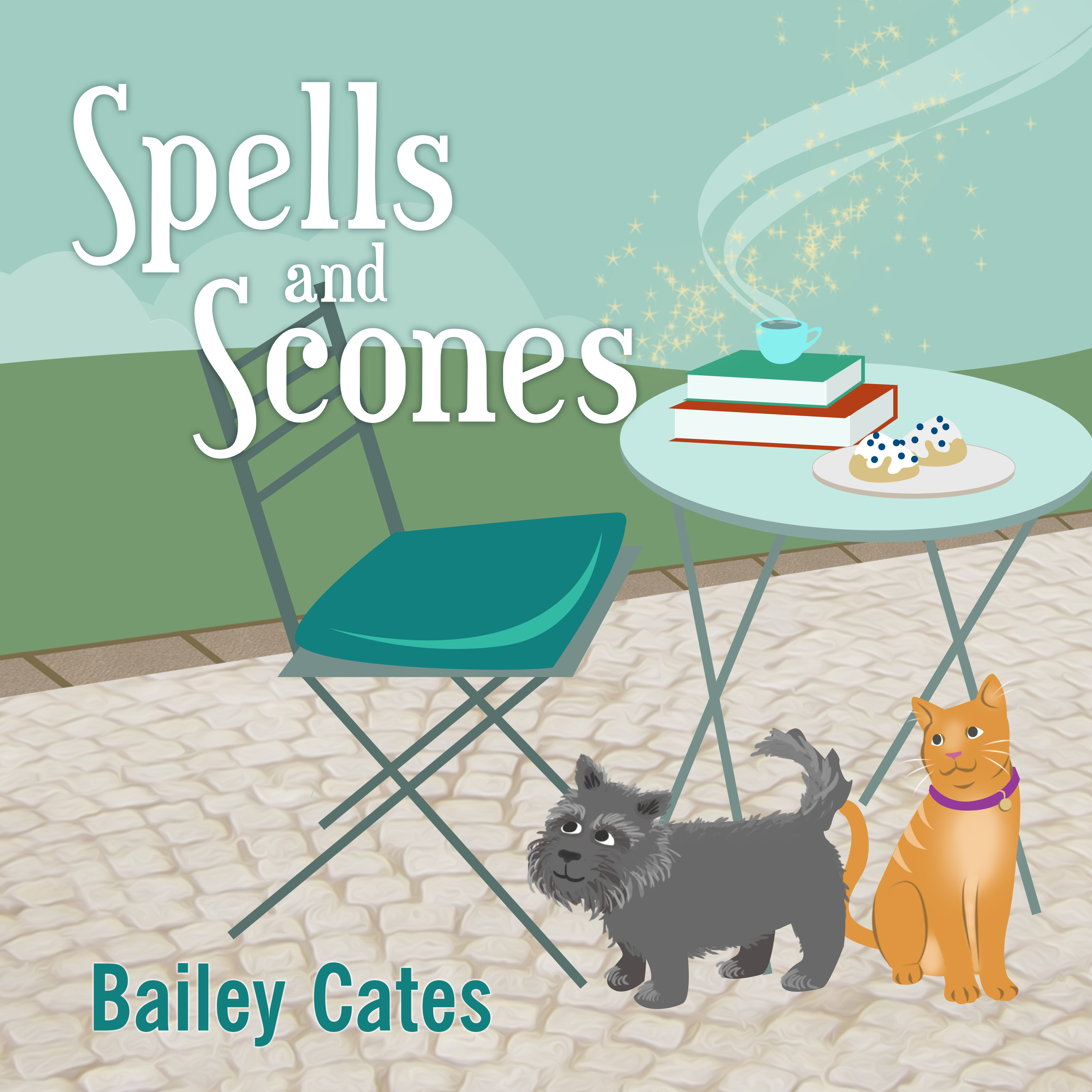 Printable Spells and Scones Audiobook Cover Art