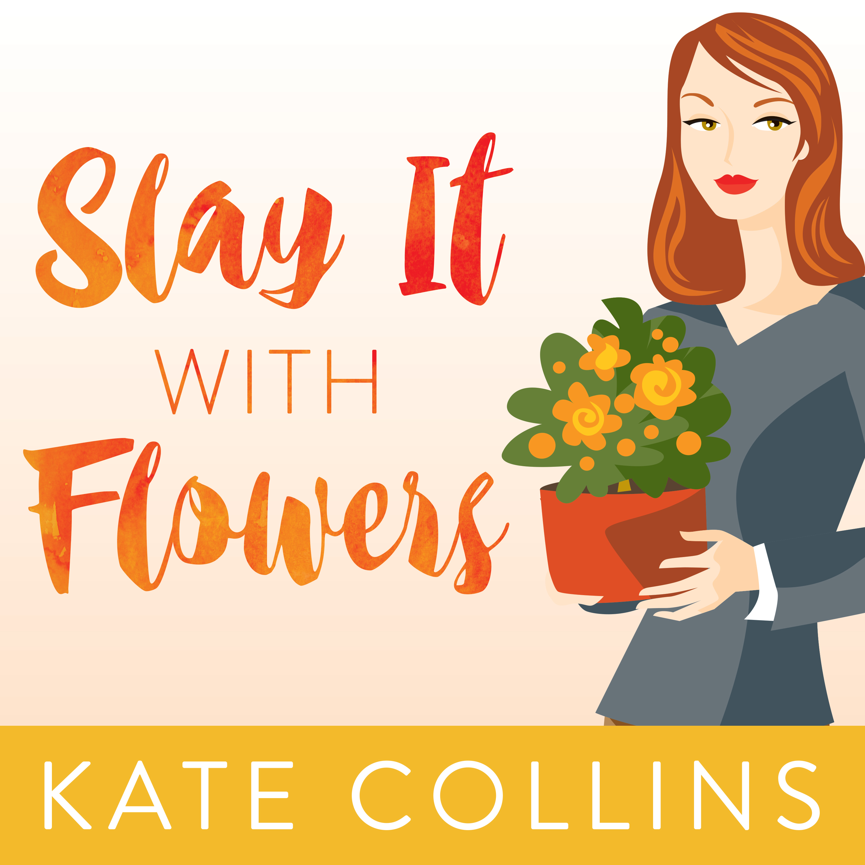 Printable Slay It with Flowers Audiobook Cover Art