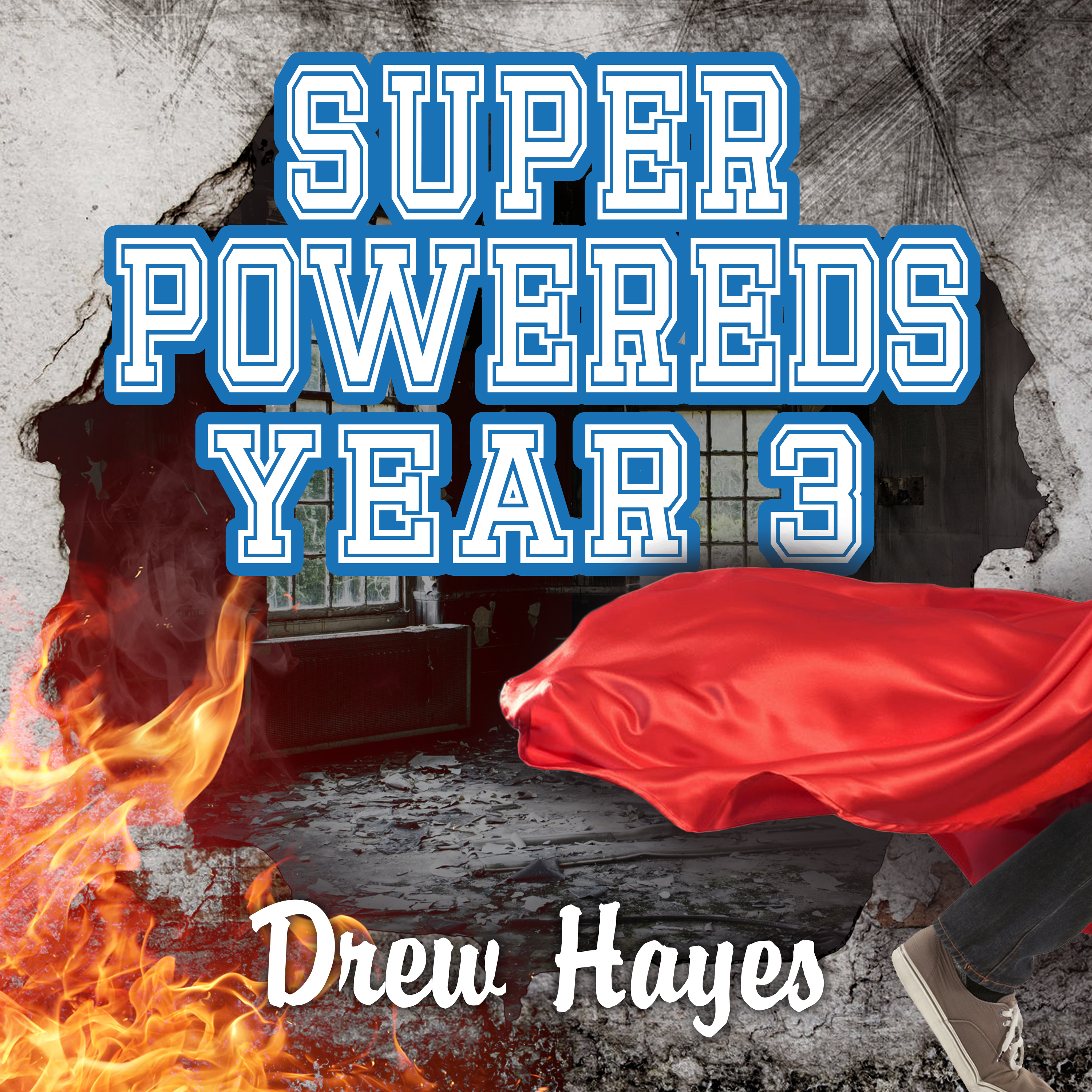 Printable Super Powereds: Year 3 Audiobook Cover Art
