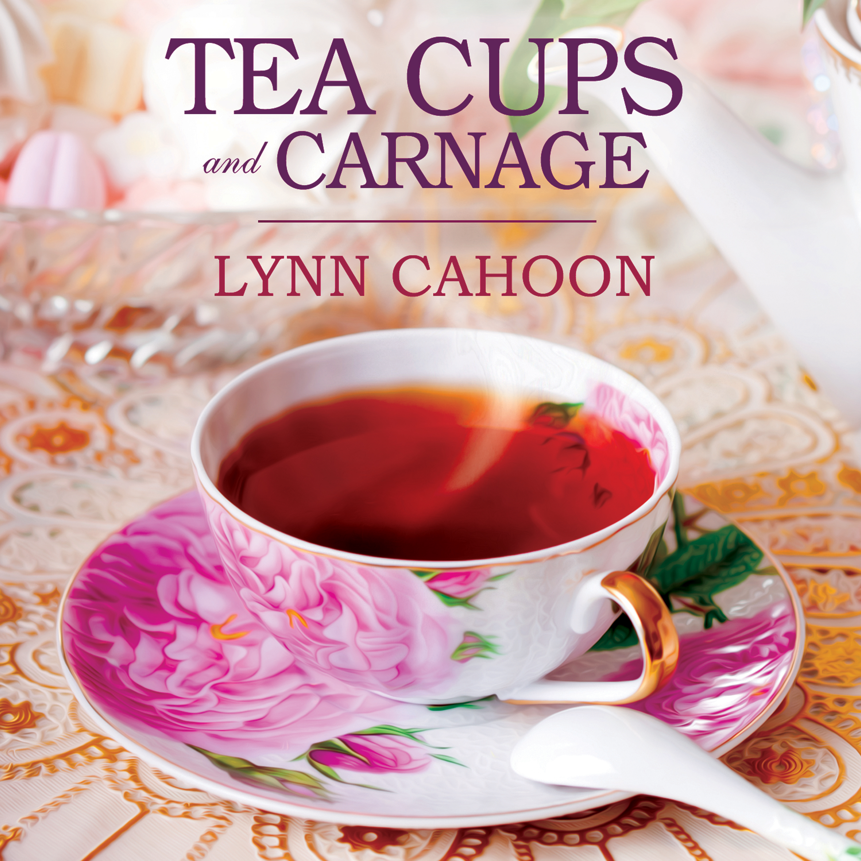 Printable Teacups and Carnage Audiobook Cover Art