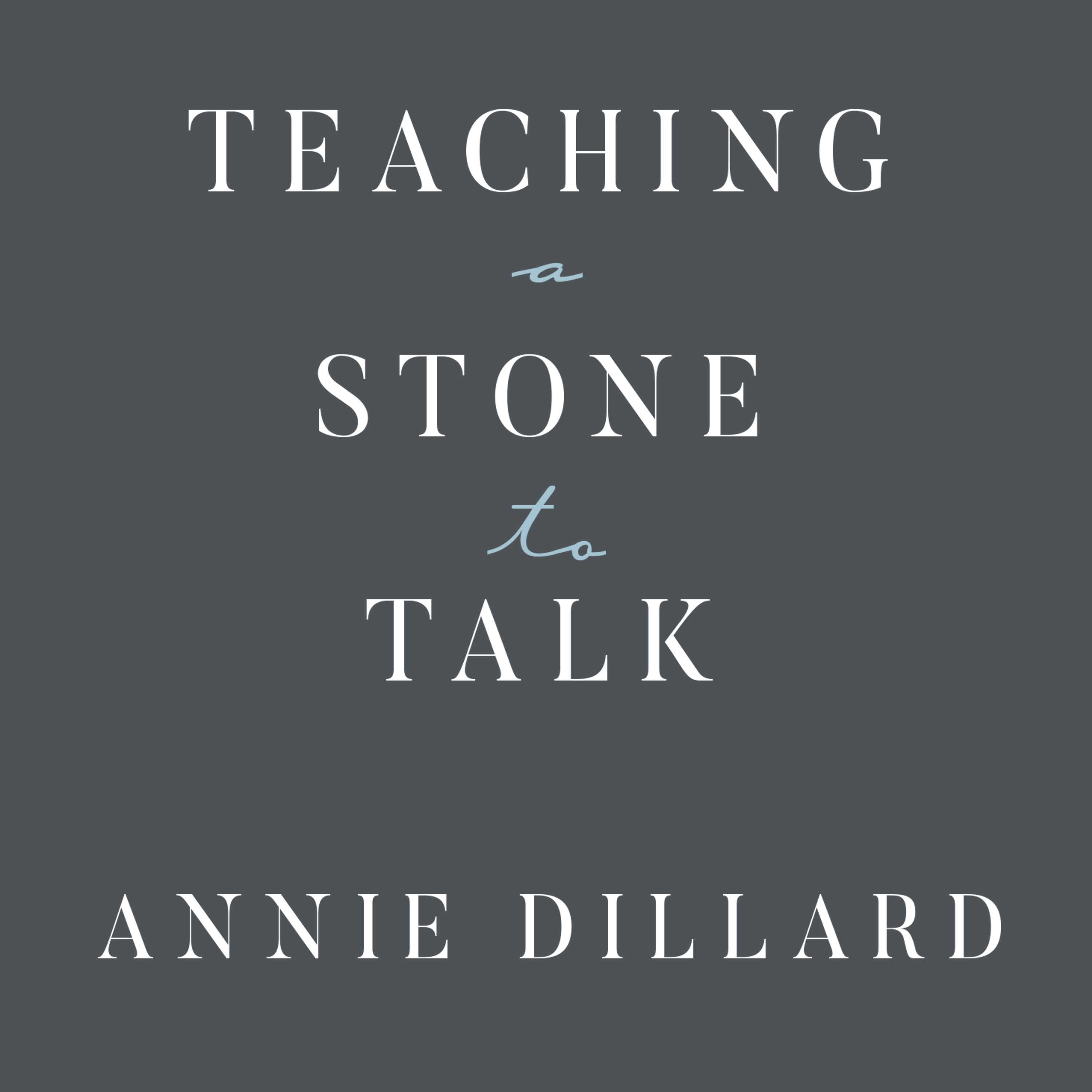 Printable Teaching a Stone to Talk: Expeditions and Encounters Audiobook Cover Art