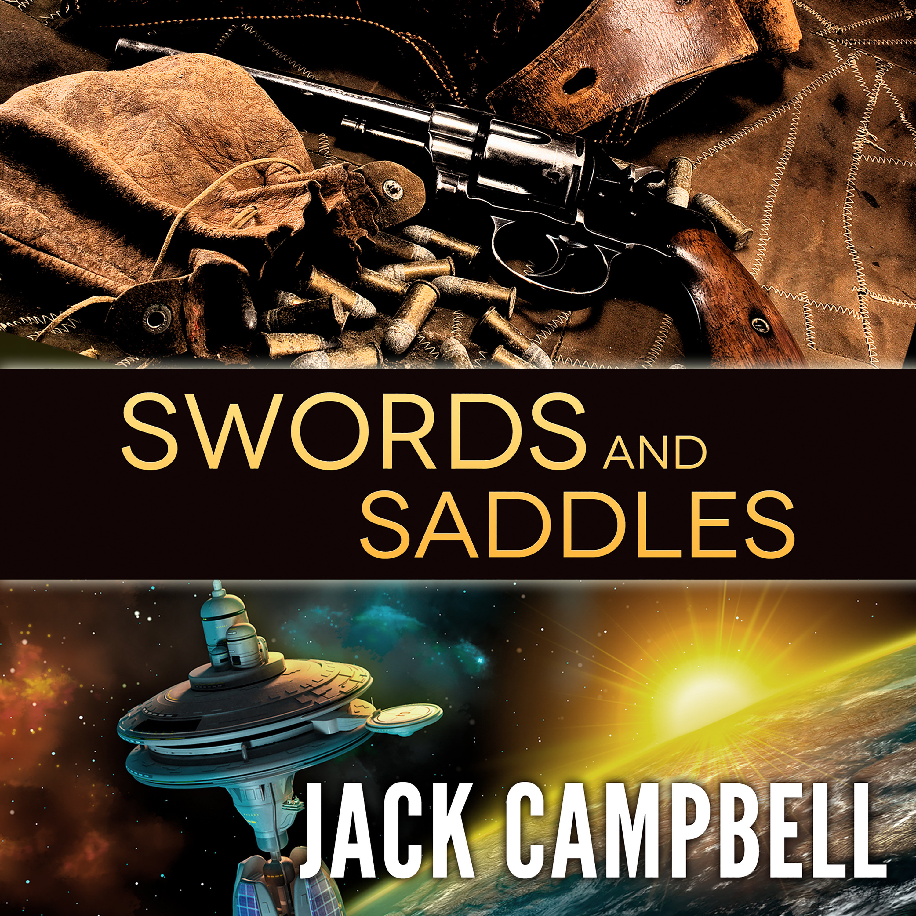 Printable Swords and Saddles Audiobook Cover Art