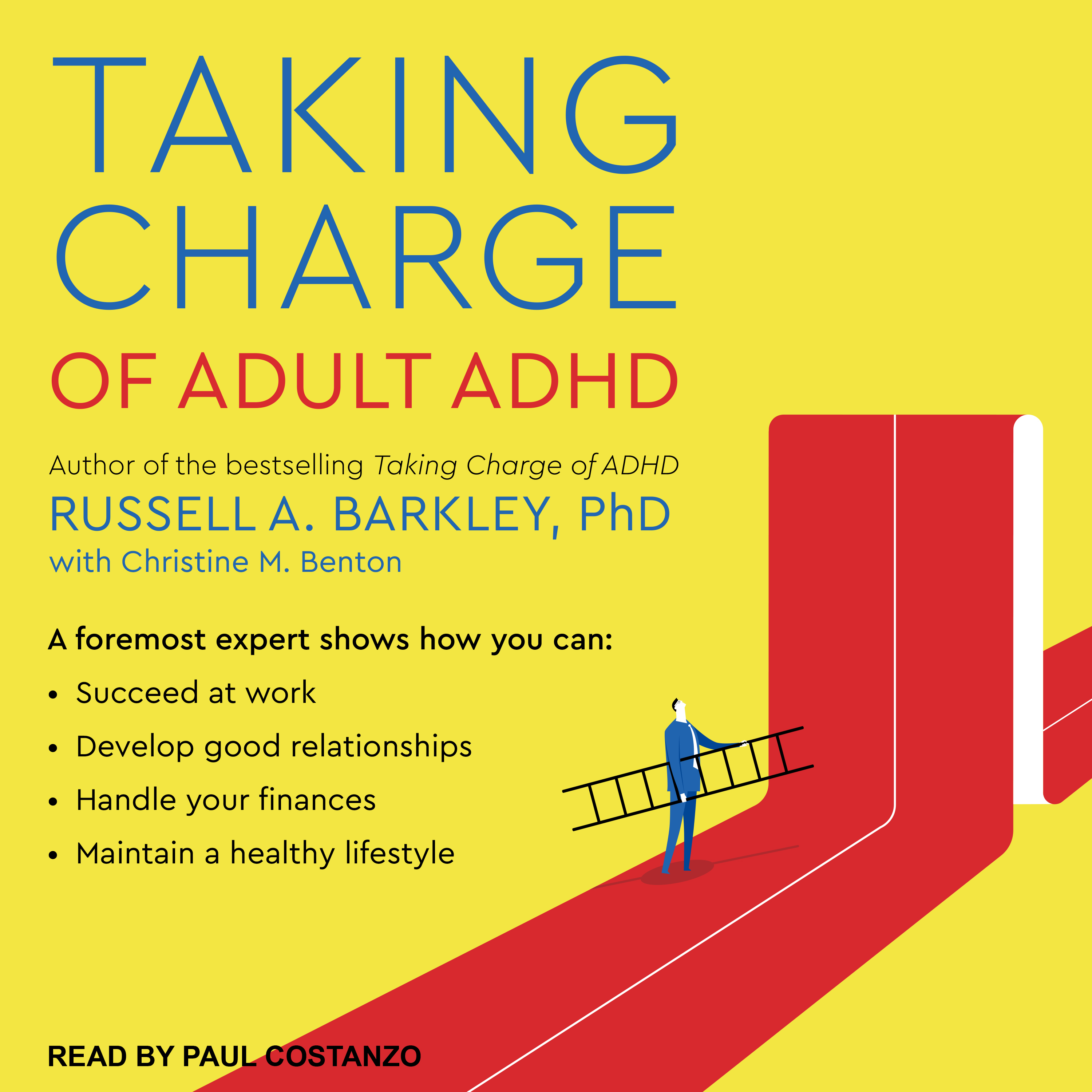 Printable Taking Charge of Adult ADHD Audiobook Cover Art